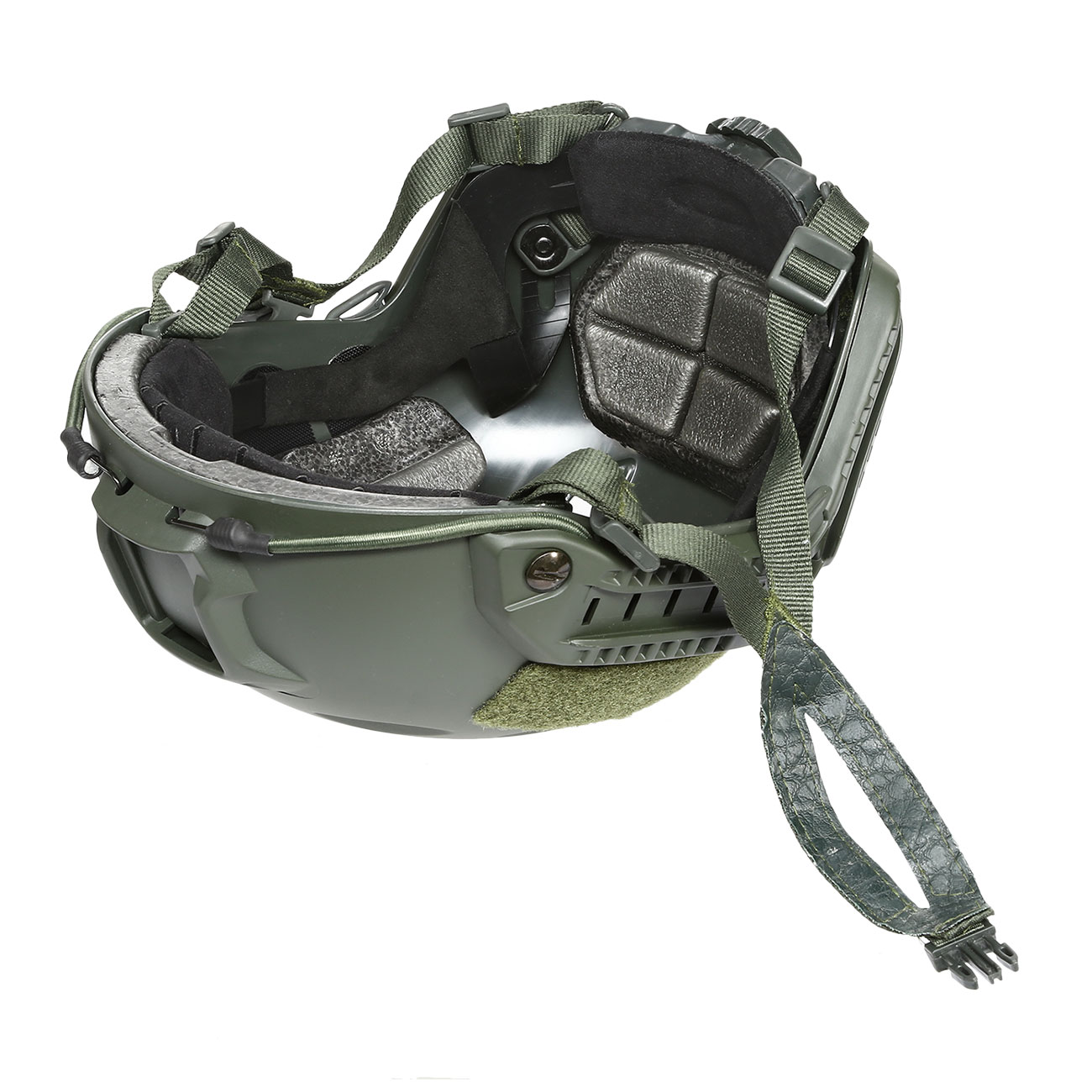 nHelmet FAST BJ Maritime Railed Airsoft Helm mit NVG Mount oliv 9