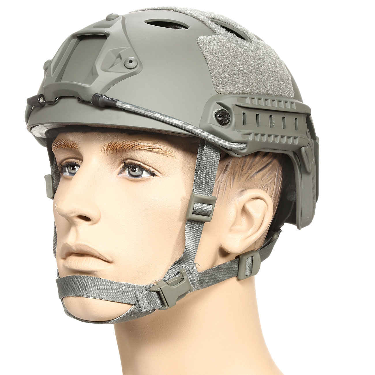 nHelmet FAST PJ Standard Railed Airsoft Helm mit NVG Mount Foliage Green 0