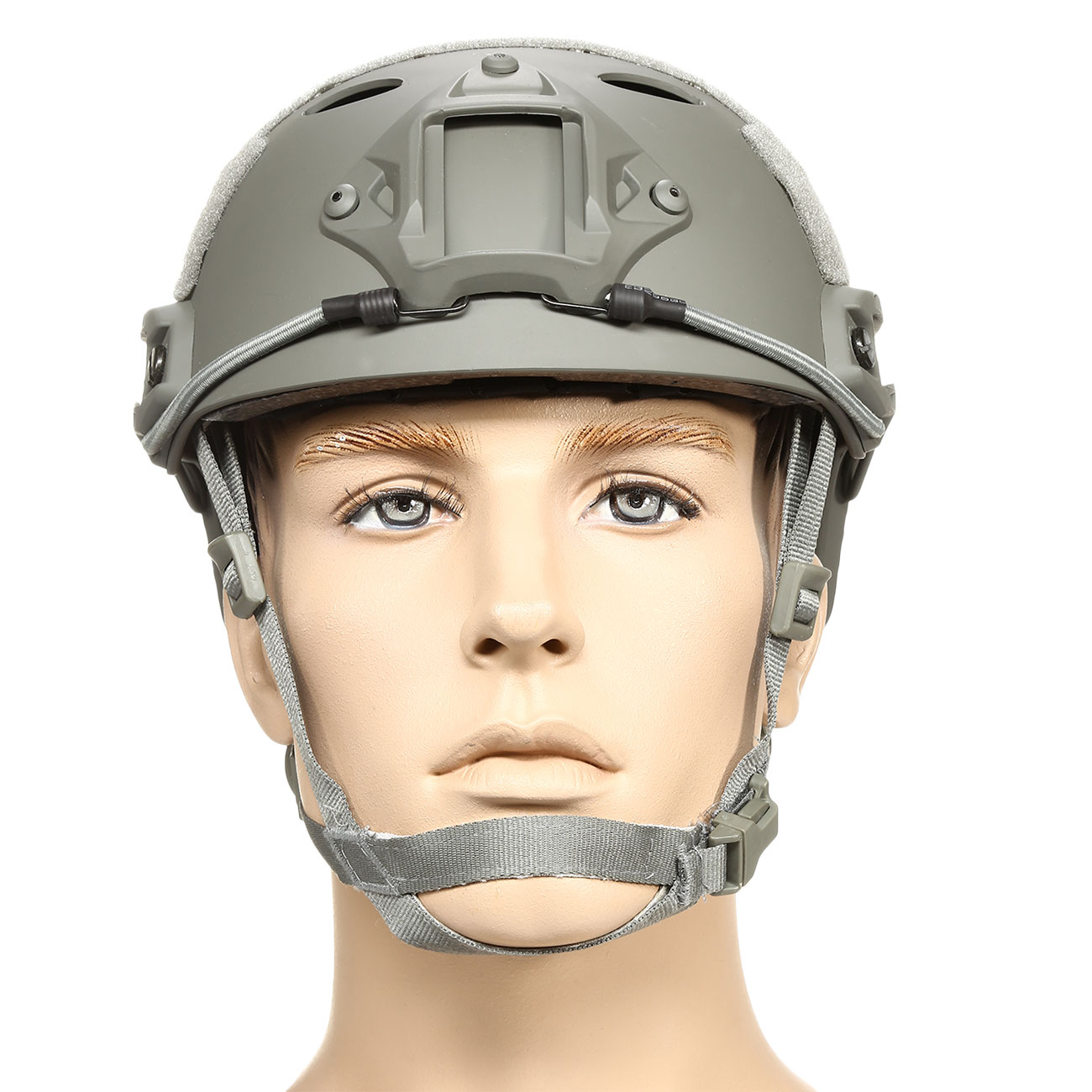 nHelmet FAST PJ Standard Railed Airsoft Helm mit NVG Mount Foliage Green 2