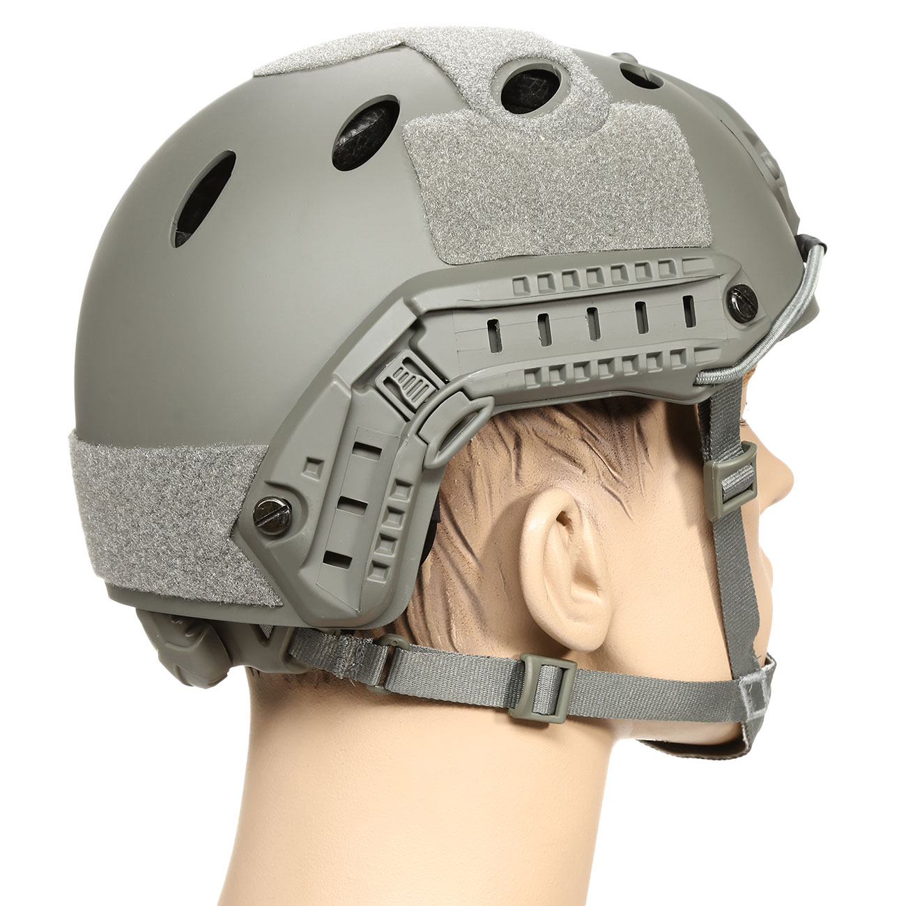 nHelmet FAST PJ Standard Railed Airsoft Helm mit NVG Mount Foliage Green 3