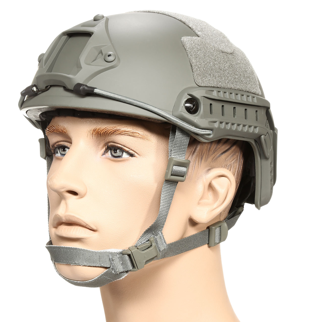 nHelmet FAST Standard Railed Airsoft Helm mit NVG Mount Foliage Green 0