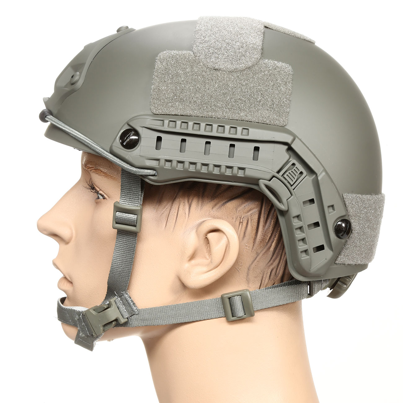 nHelmet FAST Standard Railed Airsoft Helm mit NVG Mount Foliage Green 1