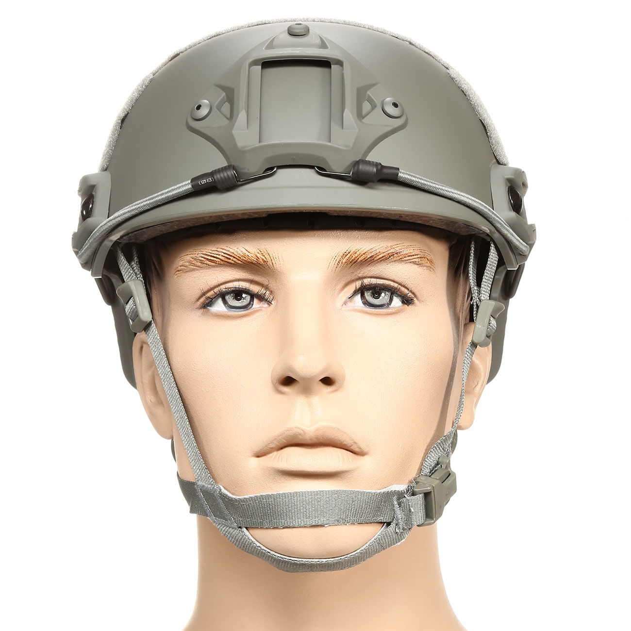 nHelmet FAST Standard Railed Airsoft Helm mit NVG Mount Foliage Green 2