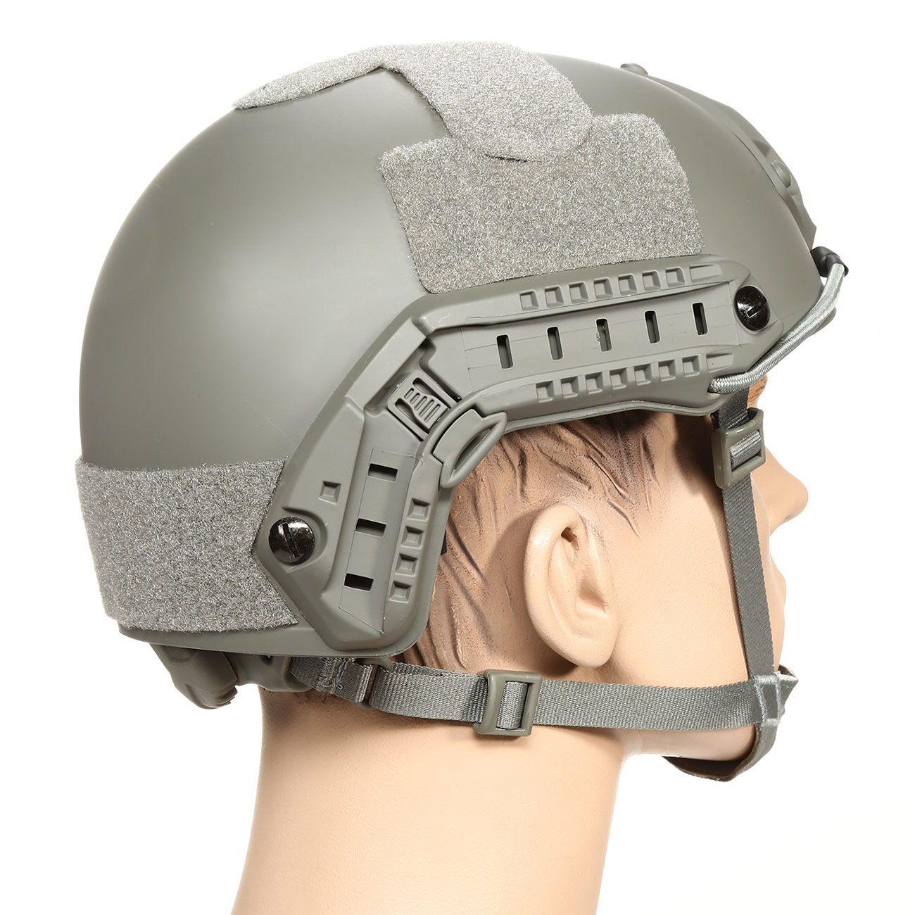 nHelmet FAST Standard Railed Airsoft Helm mit NVG Mount Foliage Green 3