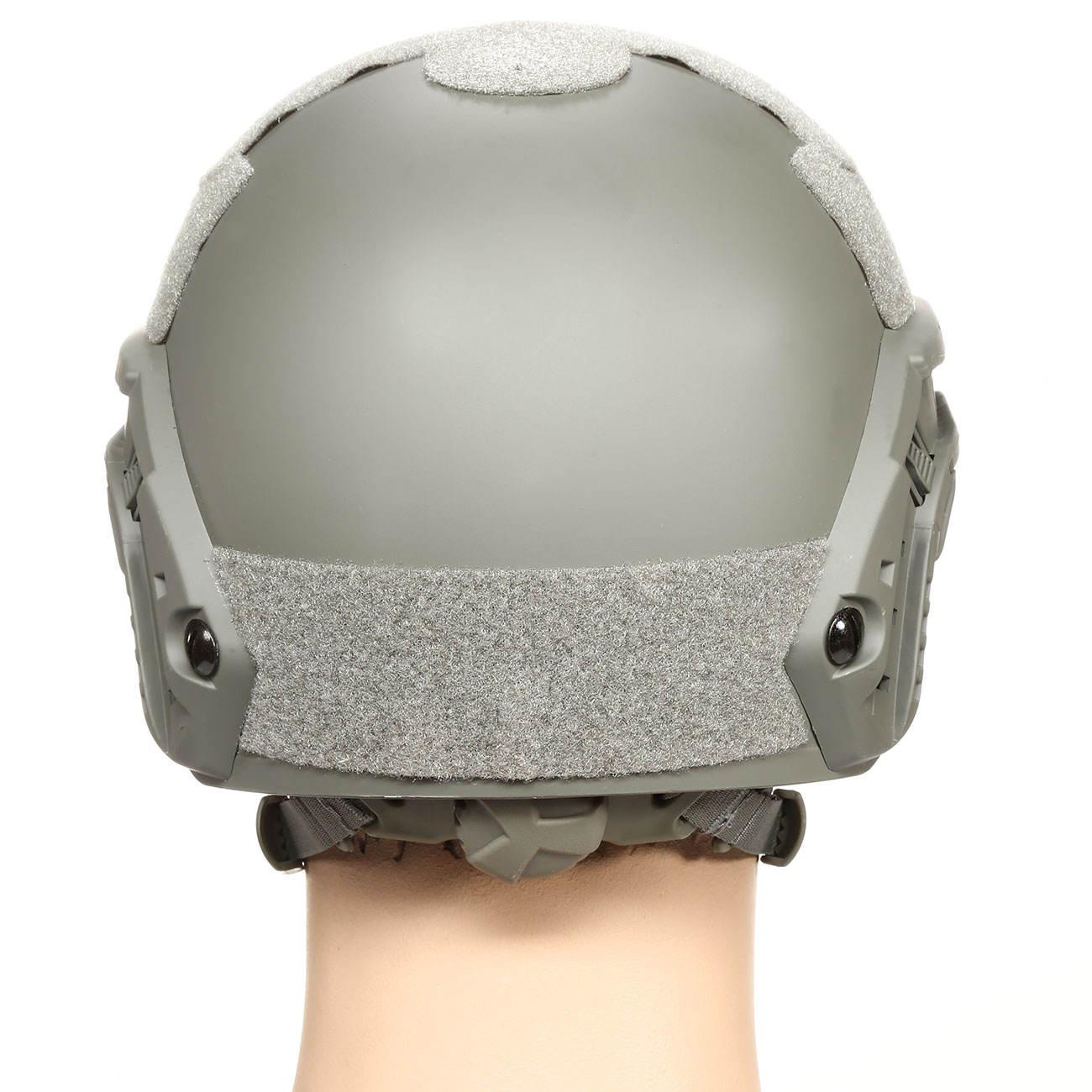nHelmet FAST Standard Railed Airsoft Helm mit NVG Mount Foliage Green 4