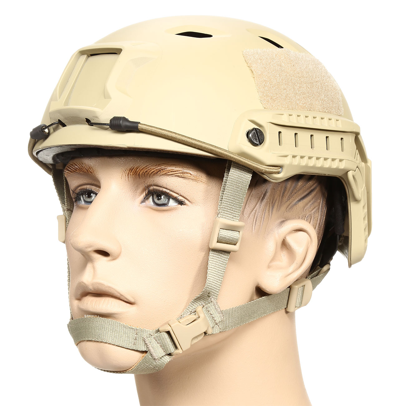 nHelmet FAST BJ Standard Railed Airsoft Helm mit NVG Mount Dark Earth 0