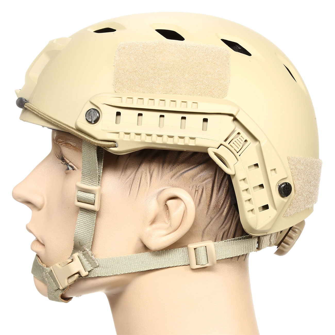 nHelmet FAST BJ Standard Railed Airsoft Helm mit NVG Mount Dark Earth 1