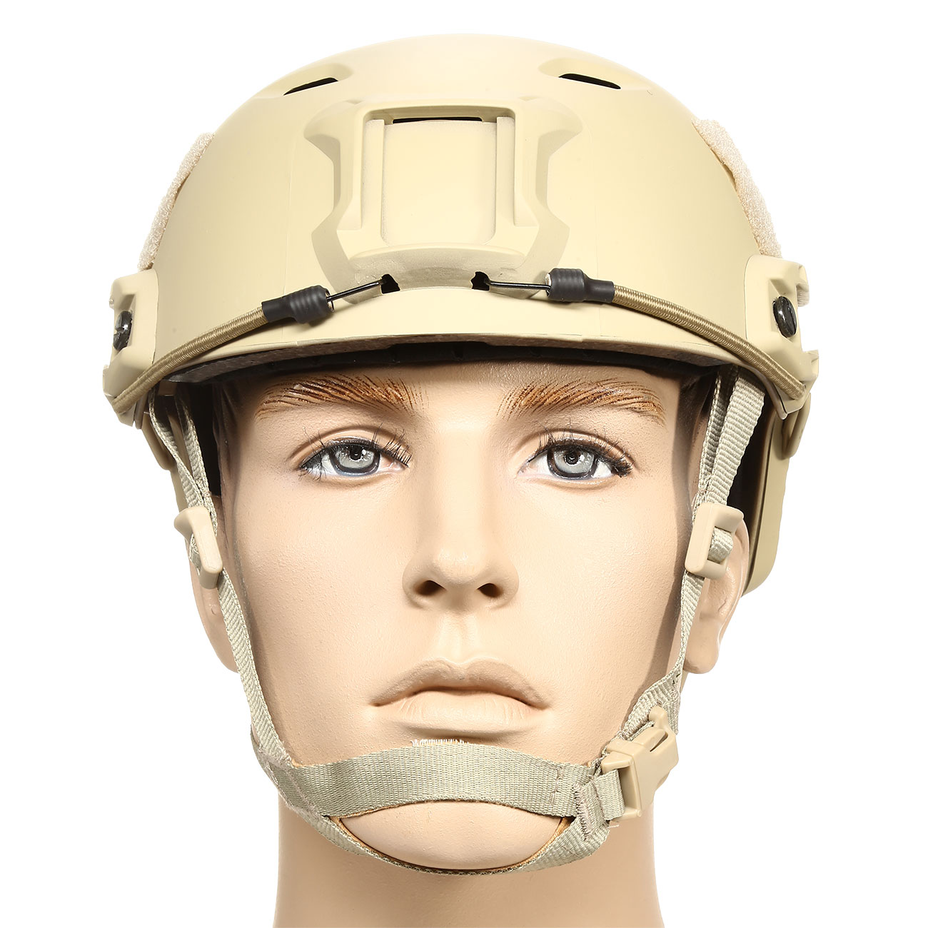 nHelmet FAST BJ Standard Railed Airsoft Helm mit NVG Mount Dark Earth 2