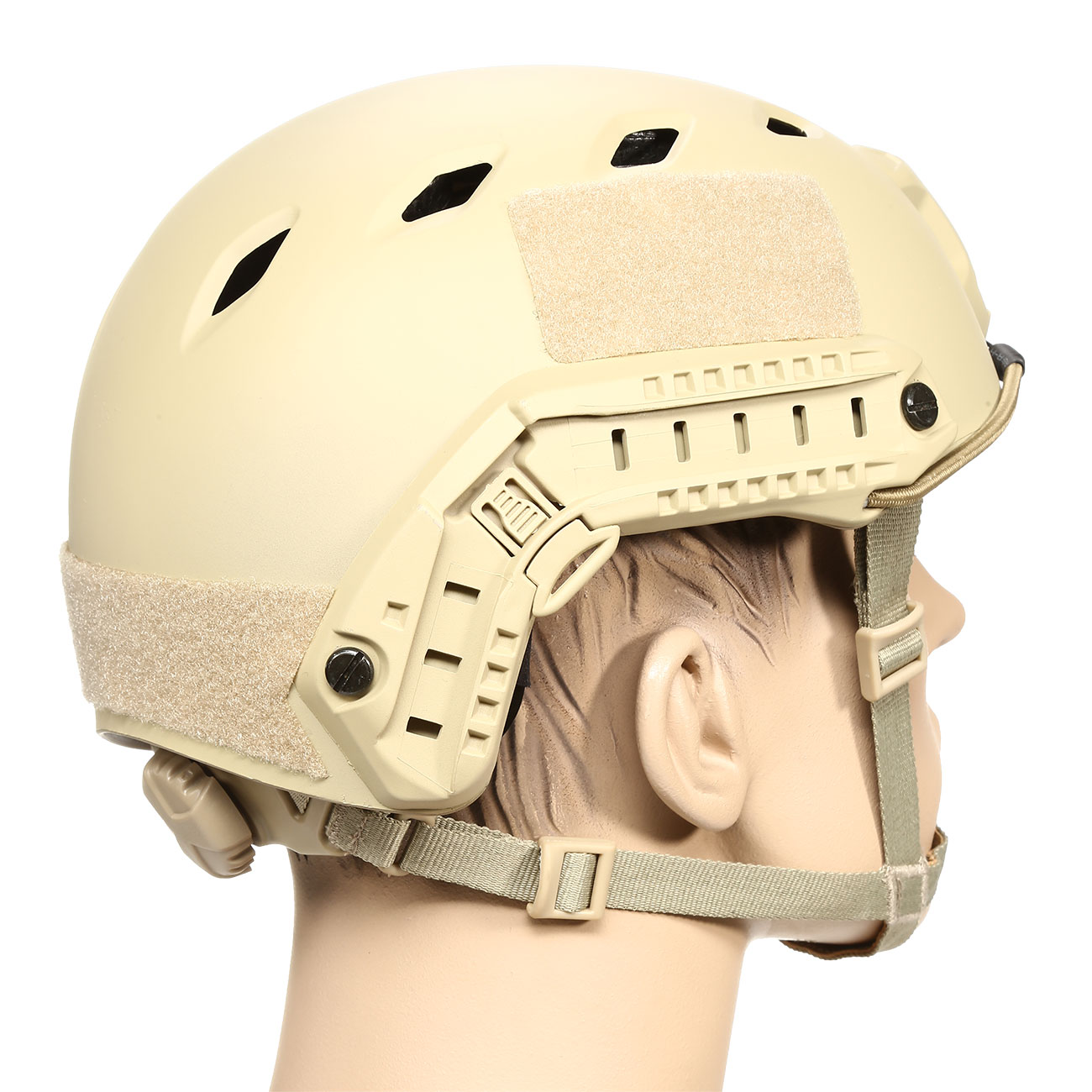 nHelmet FAST BJ Standard Railed Airsoft Helm mit NVG Mount Dark Earth 3