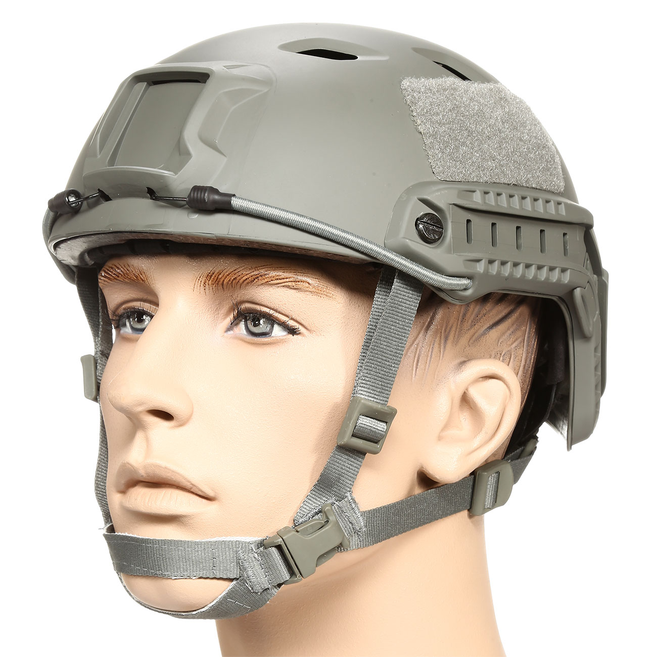 nHelmet FAST BJ Standard Railed Airsoft Helm mit NVG Mount Foliage Green 0