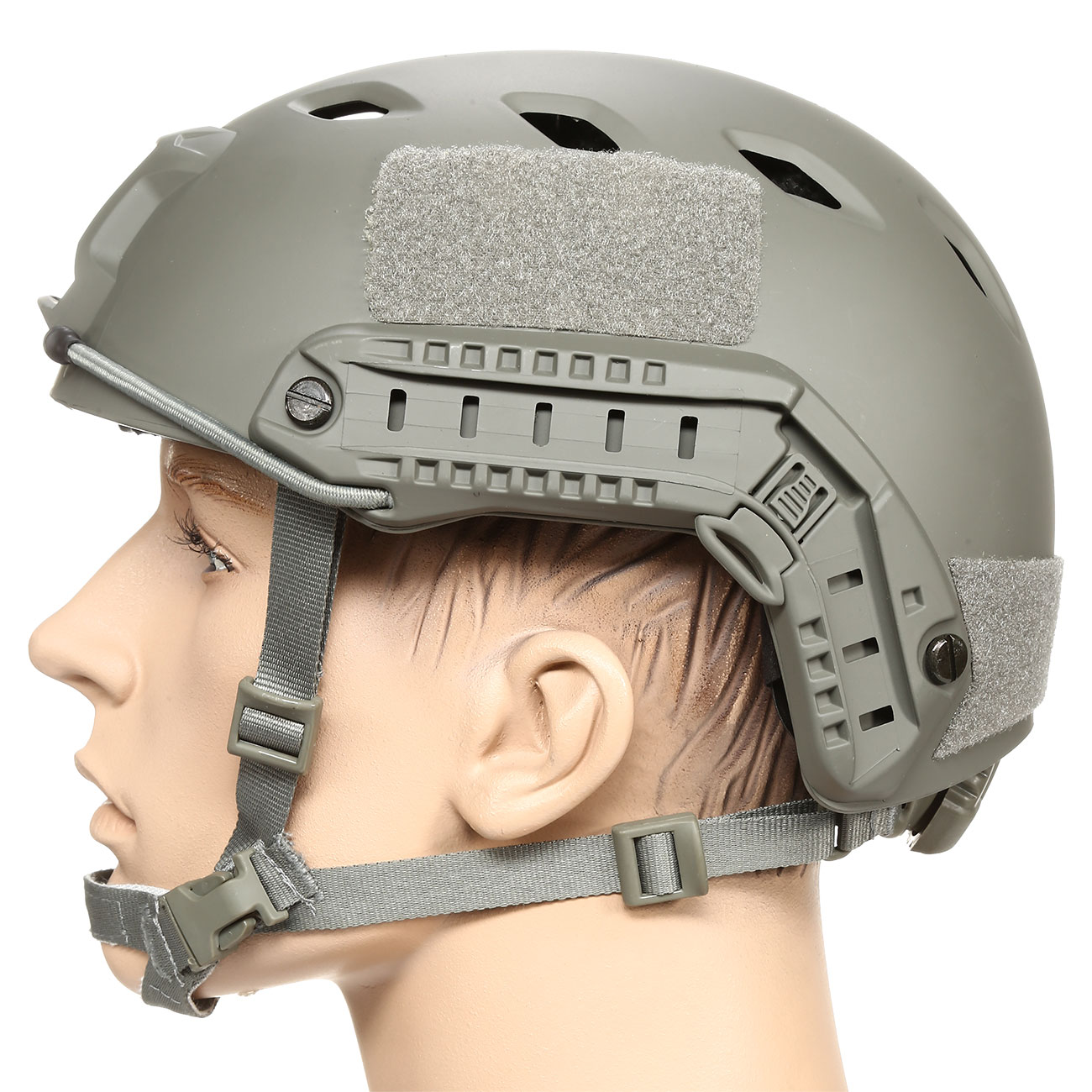 nHelmet FAST BJ Standard Railed Airsoft Helm mit NVG Mount Foliage Green 1