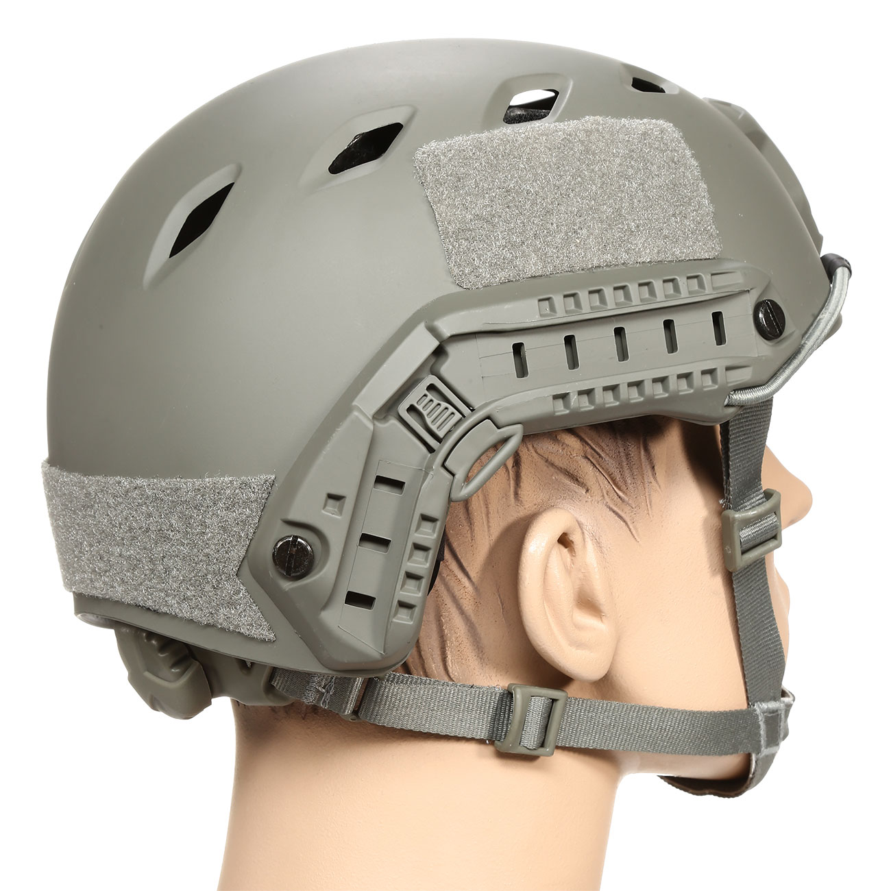 nHelmet FAST BJ Standard Railed Airsoft Helm mit NVG Mount Foliage Green 3