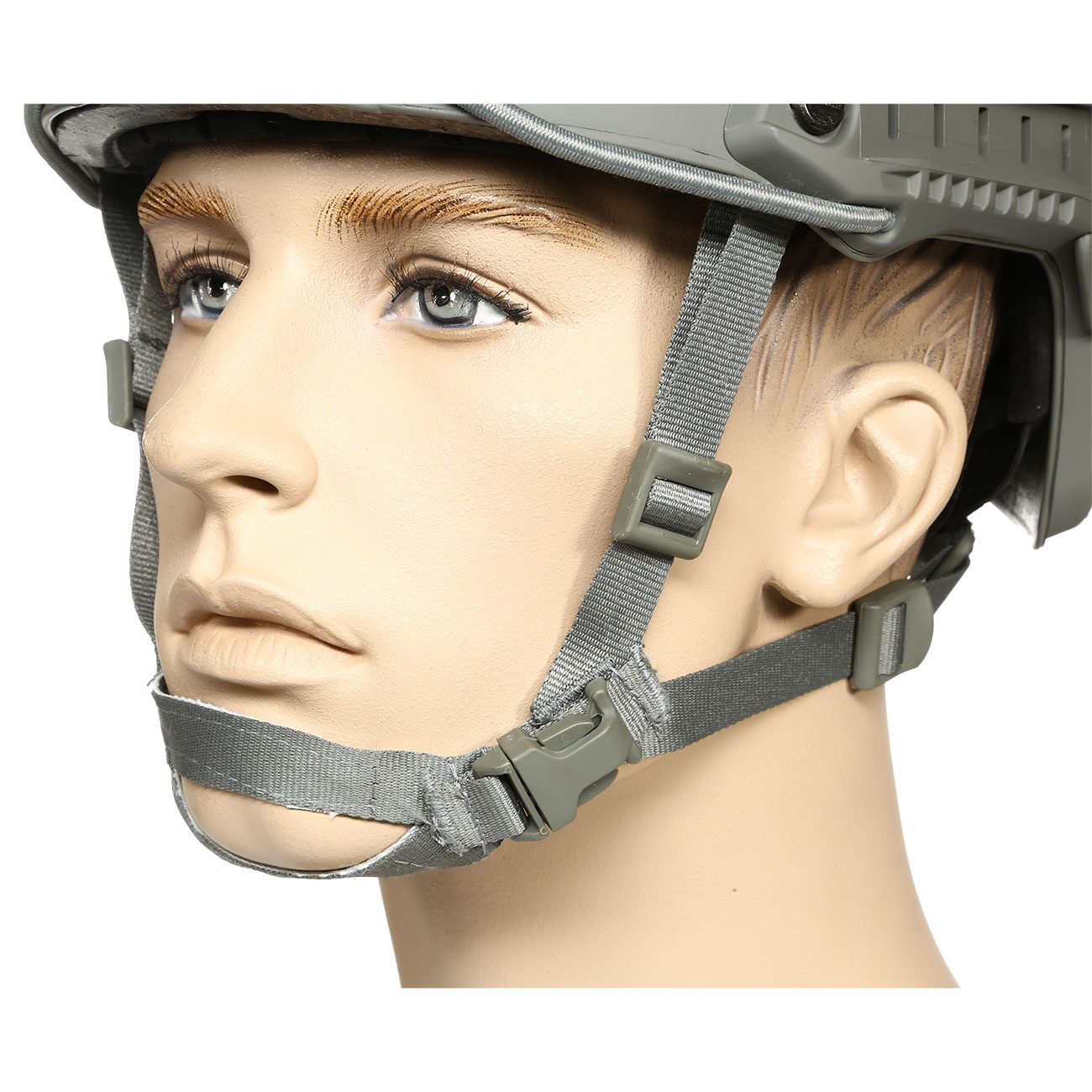 nHelmet FAST BJ Standard Railed Airsoft Helm mit NVG Mount Foliage Green 6
