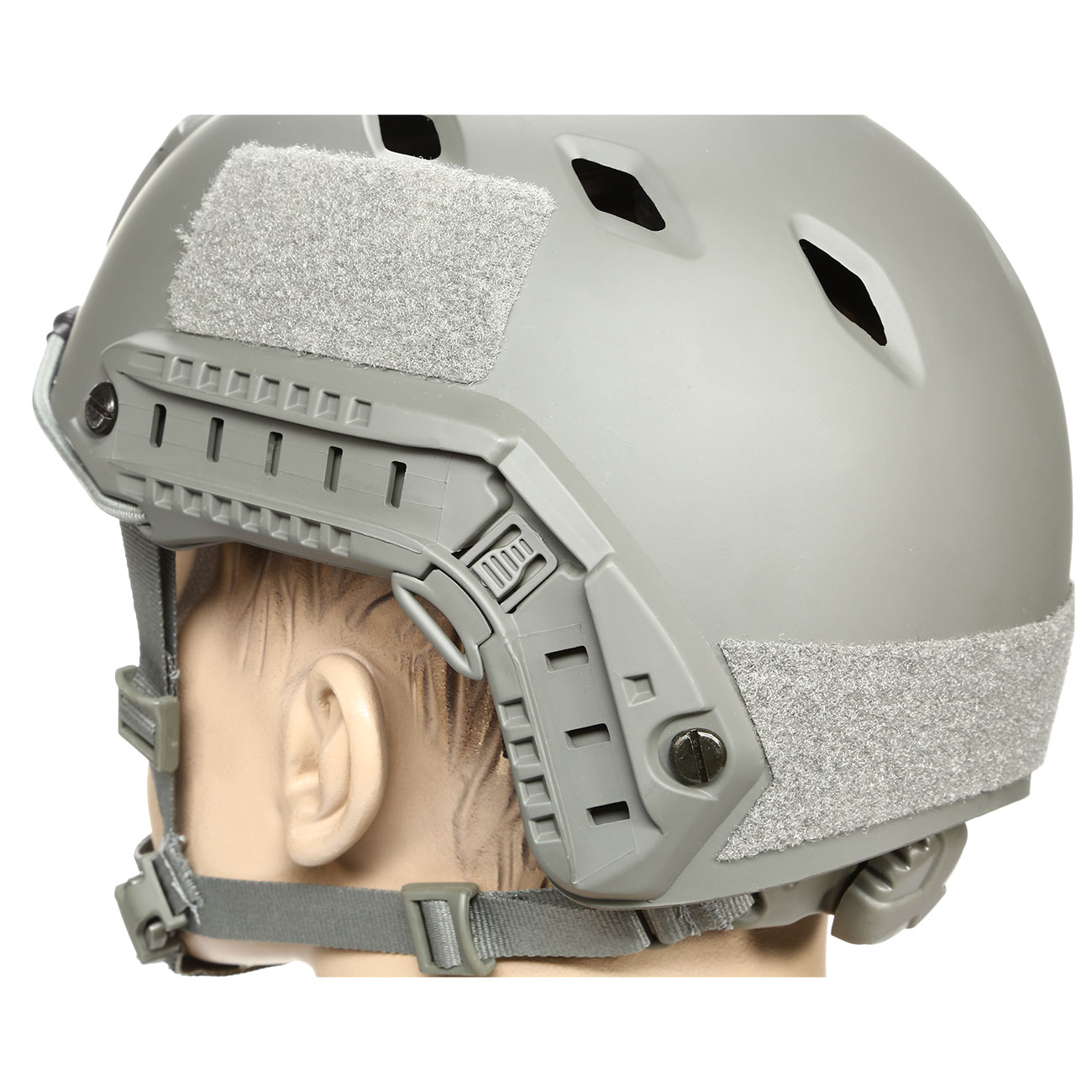 nHelmet FAST BJ Standard Railed Airsoft Helm mit NVG Mount Foliage Green 7