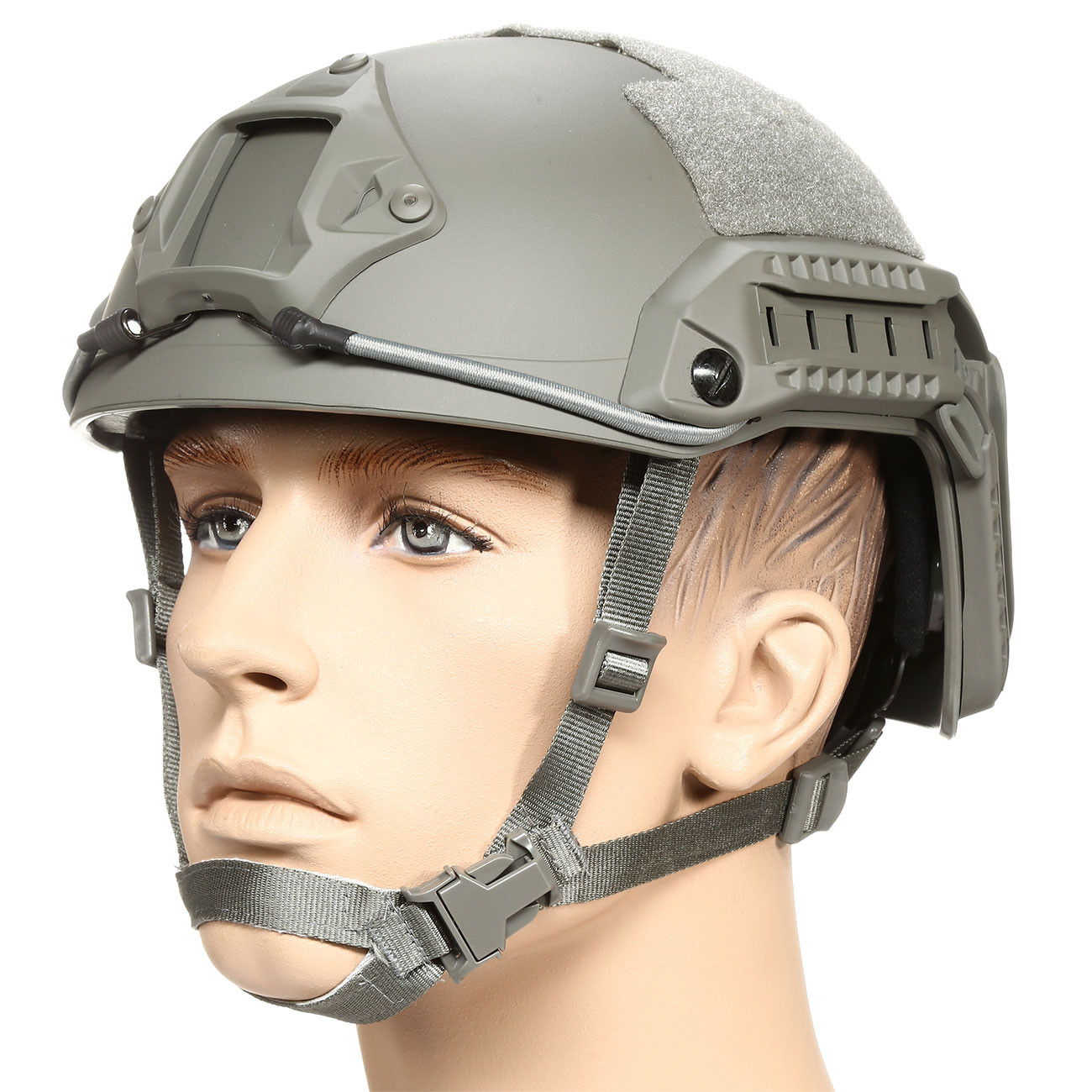 nHelmet FAST Maritime Standard Railed Airsoft Helm mit NVG Mount Foliage Green 0