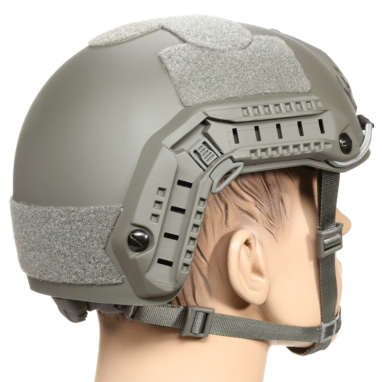 nHelmet FAST Maritime Standard Railed Airsoft Helm mit NVG Mount Foliage Green 3