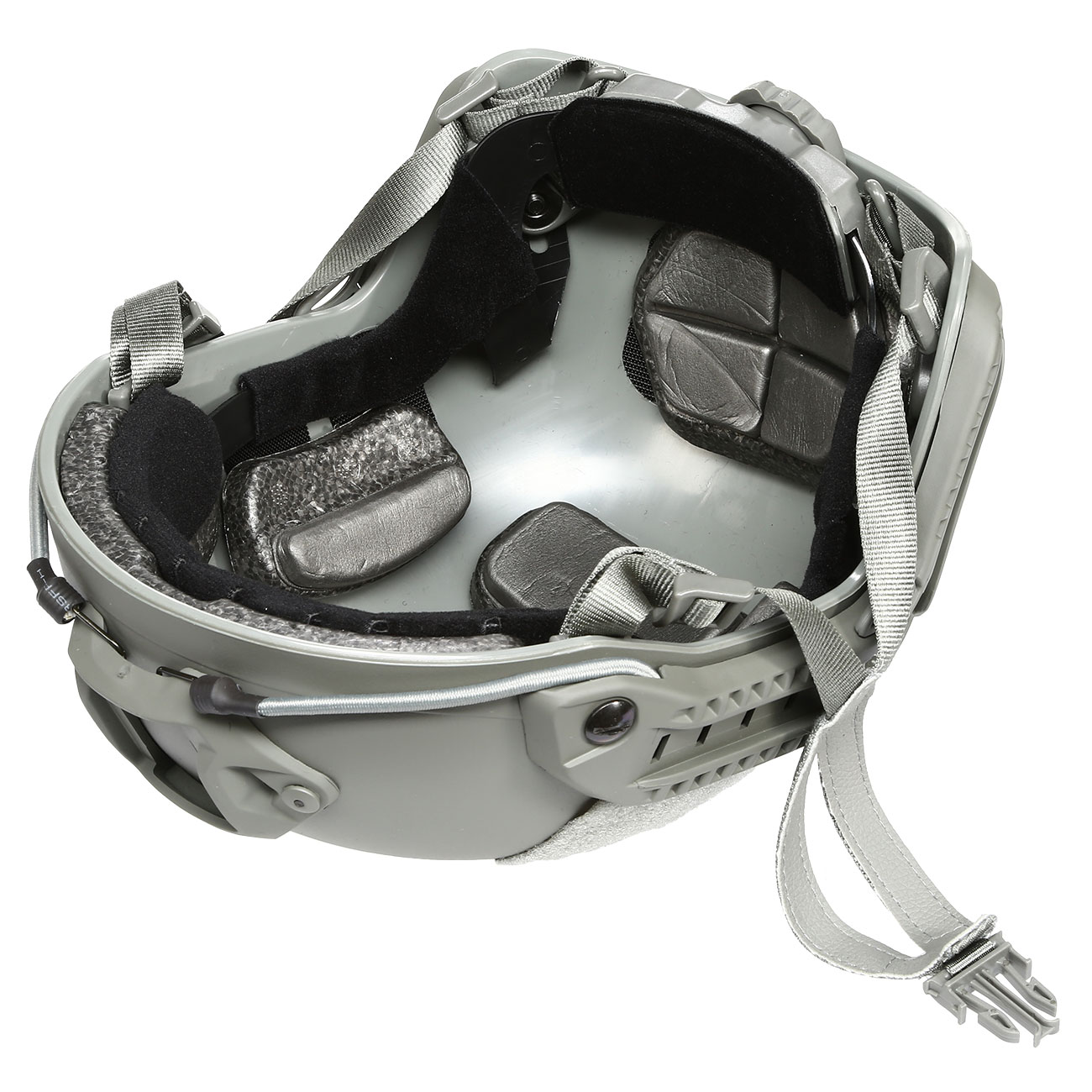 nHelmet FAST Maritime Standard Railed Airsoft Helm mit NVG Mount Foliage Green 9