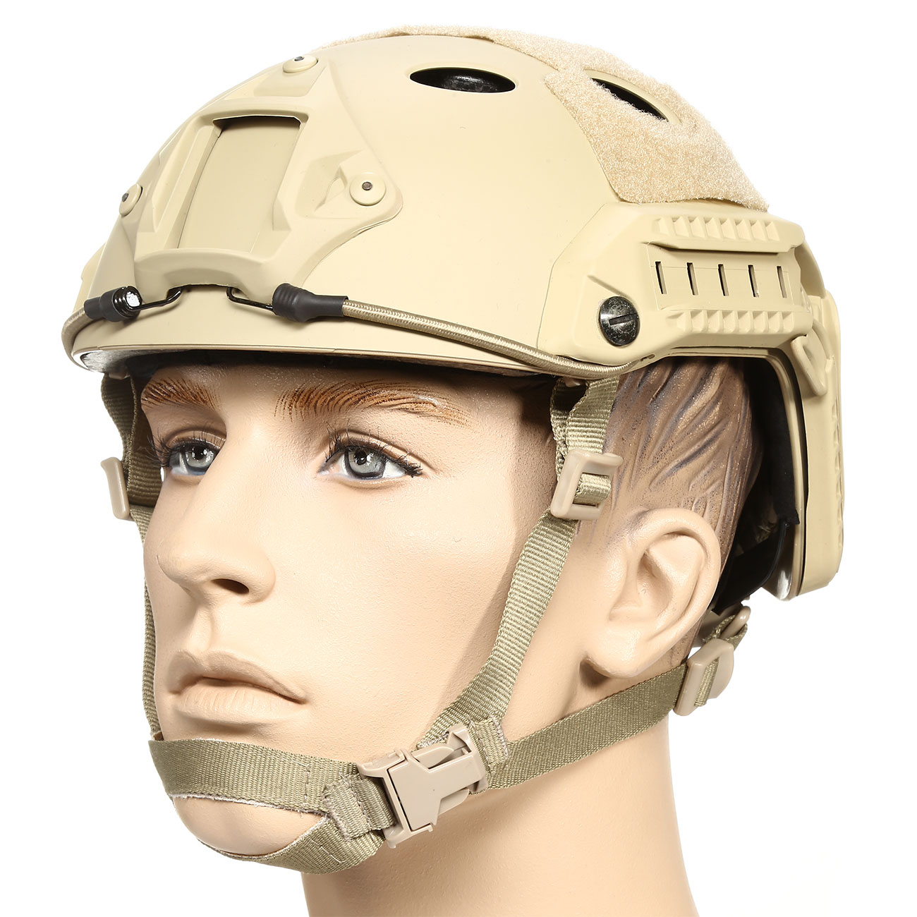 nHelmet FAST PJ Maritime Railed Airsoft Helm mit NVG Mount Dark Earth 0