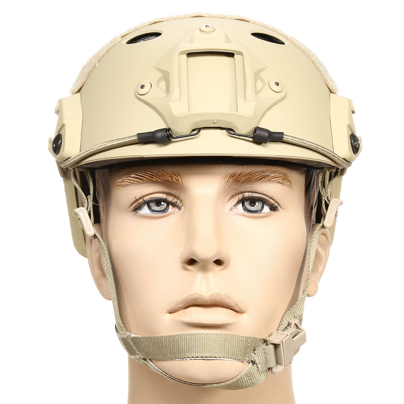nHelmet FAST PJ Maritime Railed Airsoft Helm mit NVG Mount Dark Earth 2