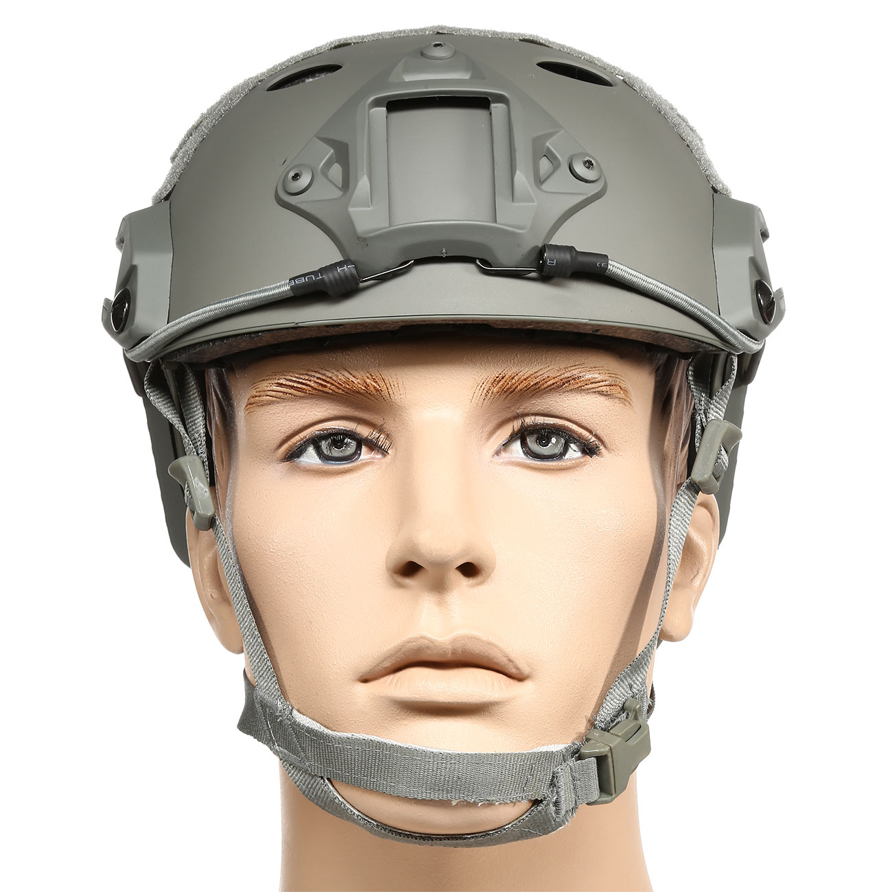 nHelmet FAST PJ Maritime Railed Airsoft Helm mit NVG Mount Foliage Green 2
