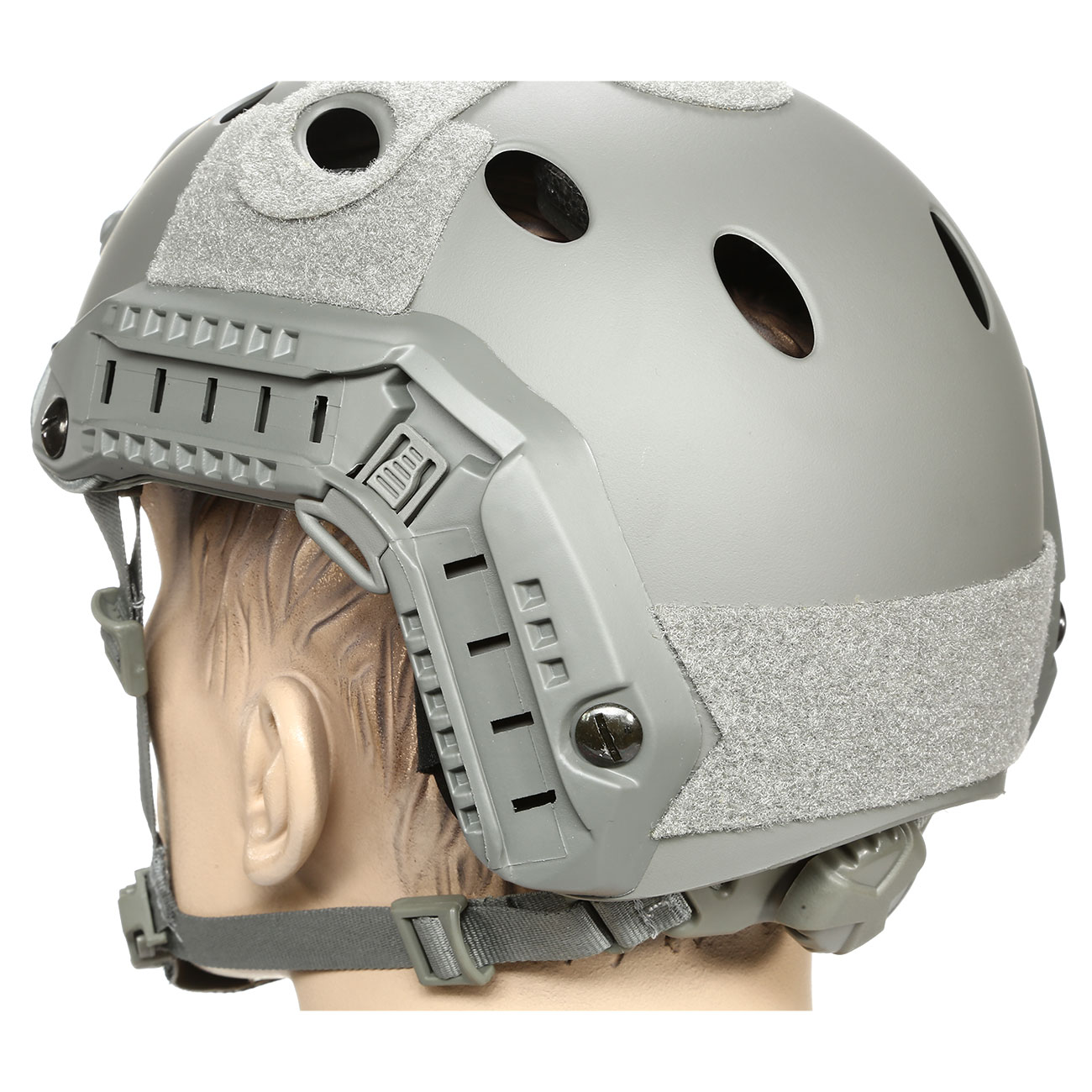 nHelmet FAST PJ Maritime Railed Airsoft Helm mit NVG Mount Foliage Green 7