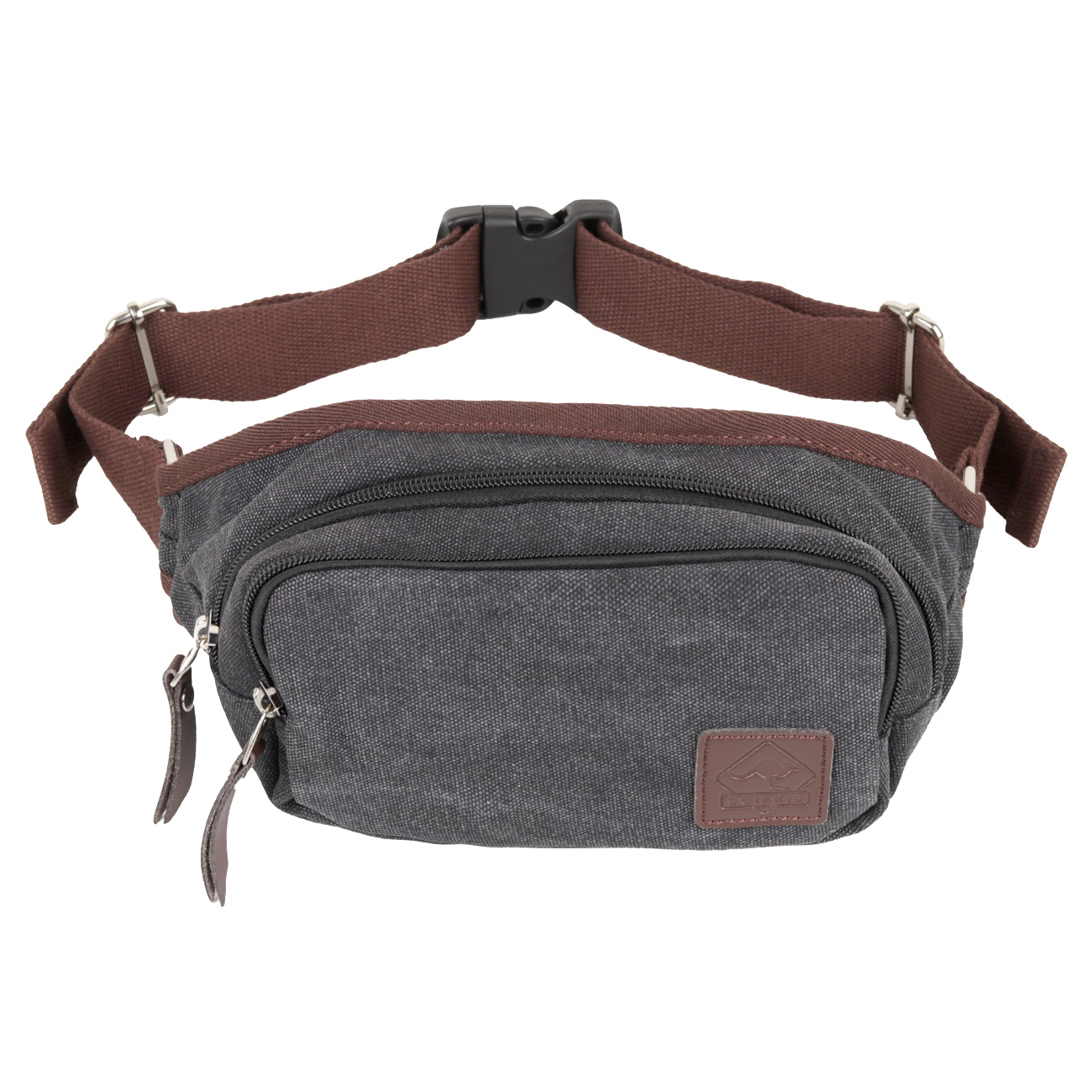 Scippis Gürteltasche Gold Coast Washed Canvas schwarz 0