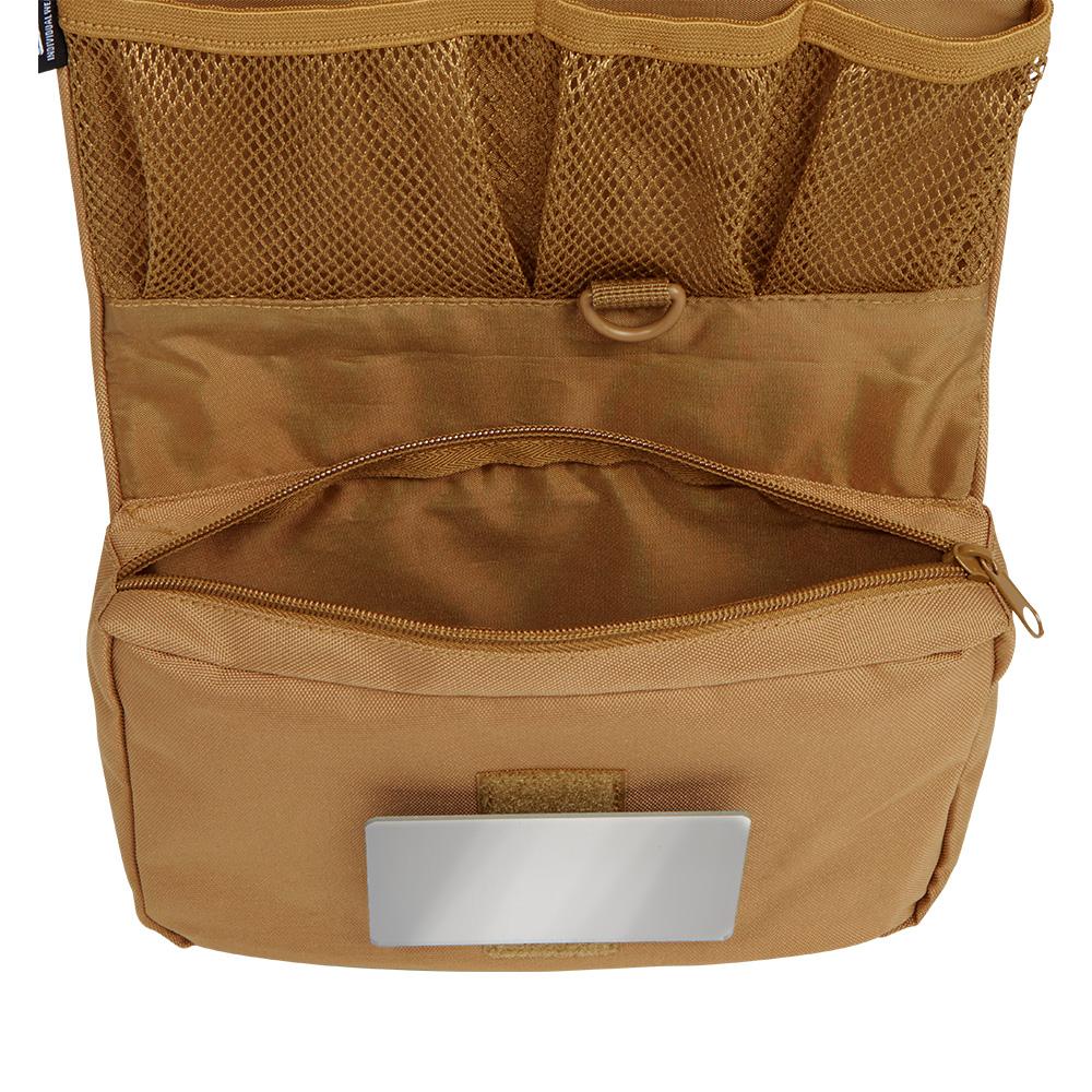 Kulturtasche mit Spiegel f/ür Outdoor Kulturbeutel Brandit Toiletry Bag medium und Large