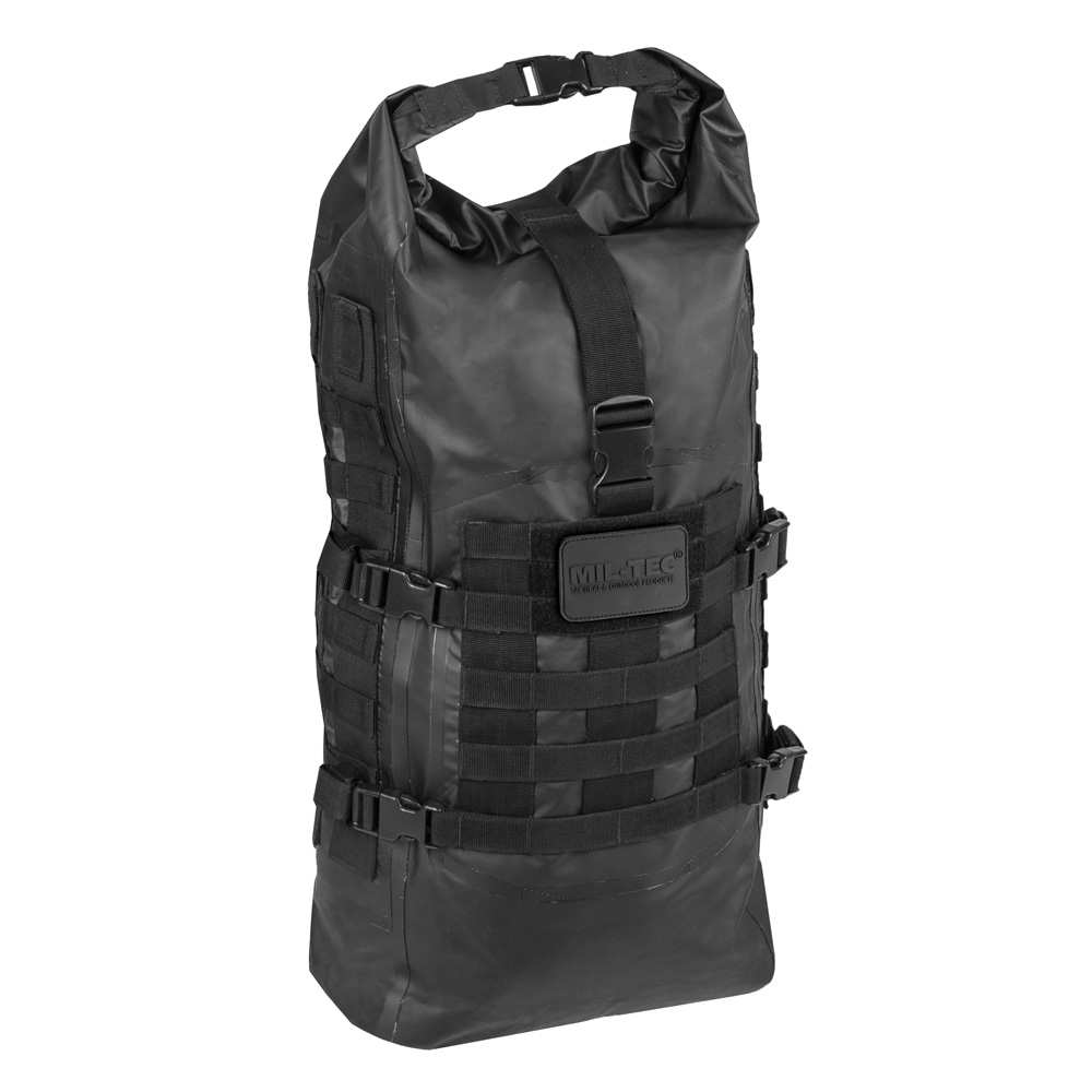 Mil-Tec Rucksack Tactical Backpack Seals Dry-Bag 35 Liter MOLLE schwarz wasserfest 0