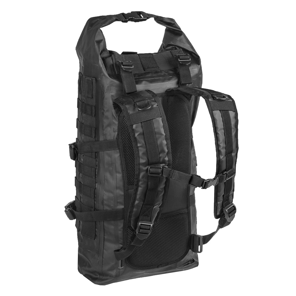 Mil-Tec Rucksack Tactical Backpack Seals Dry-Bag 35 Liter MOLLE schwarz wasserfest 1