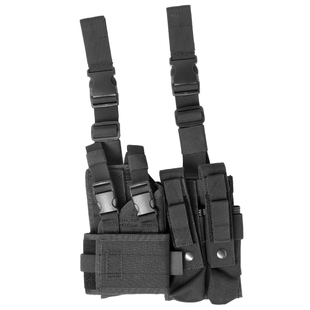 ASG Strike Systems Adjustable Universal Pistolen / SMG Beinholster aschwarz 1