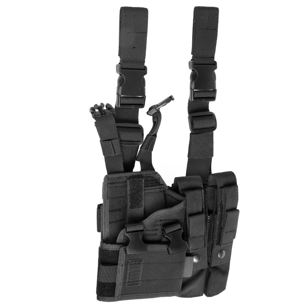 ASG Strike Systems Adjustable Universal Pistolen / SMG Beinholster aschwarz 2
