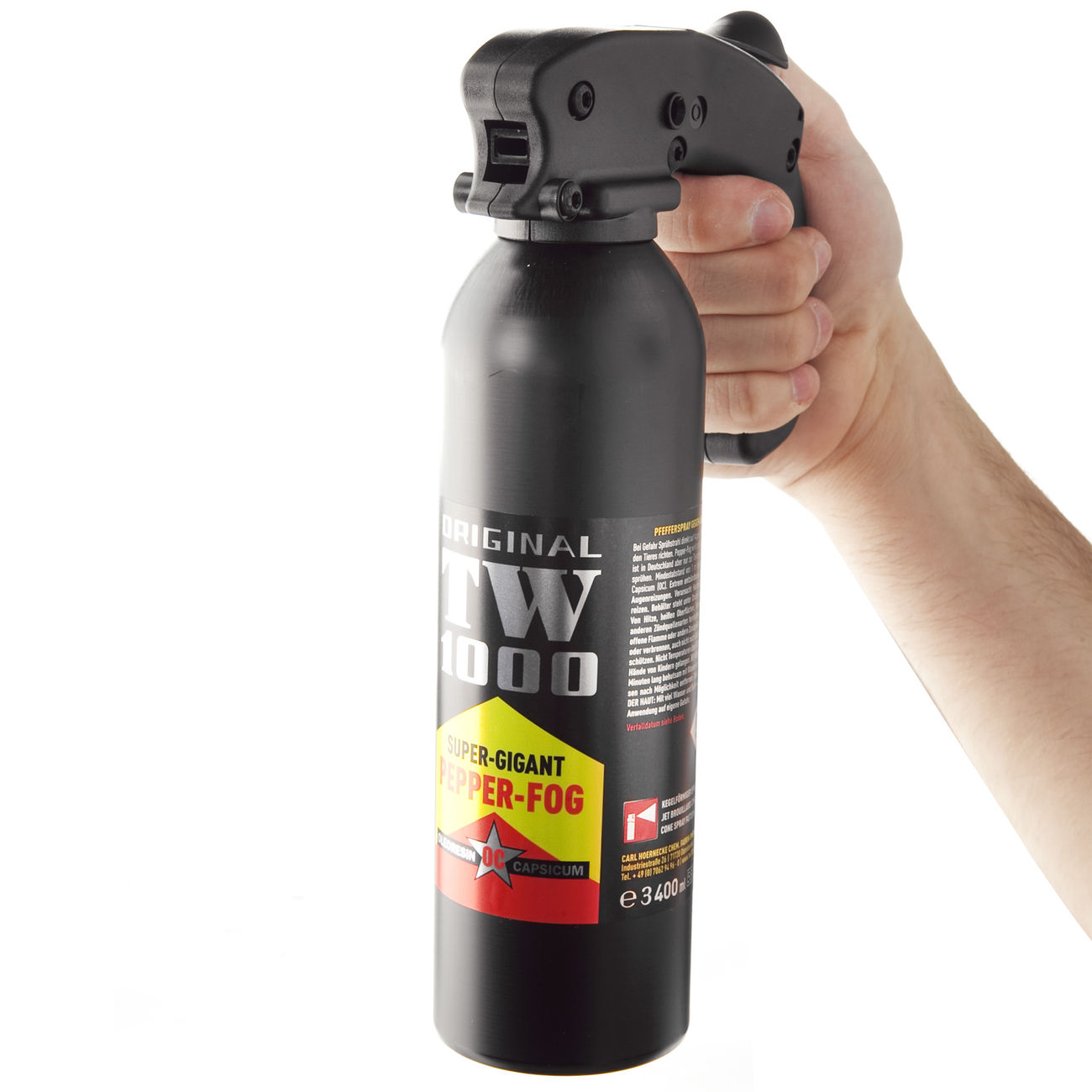 Abwehrspray TW1000 Pfefferspray Super Giant Professional, 400 ml 3