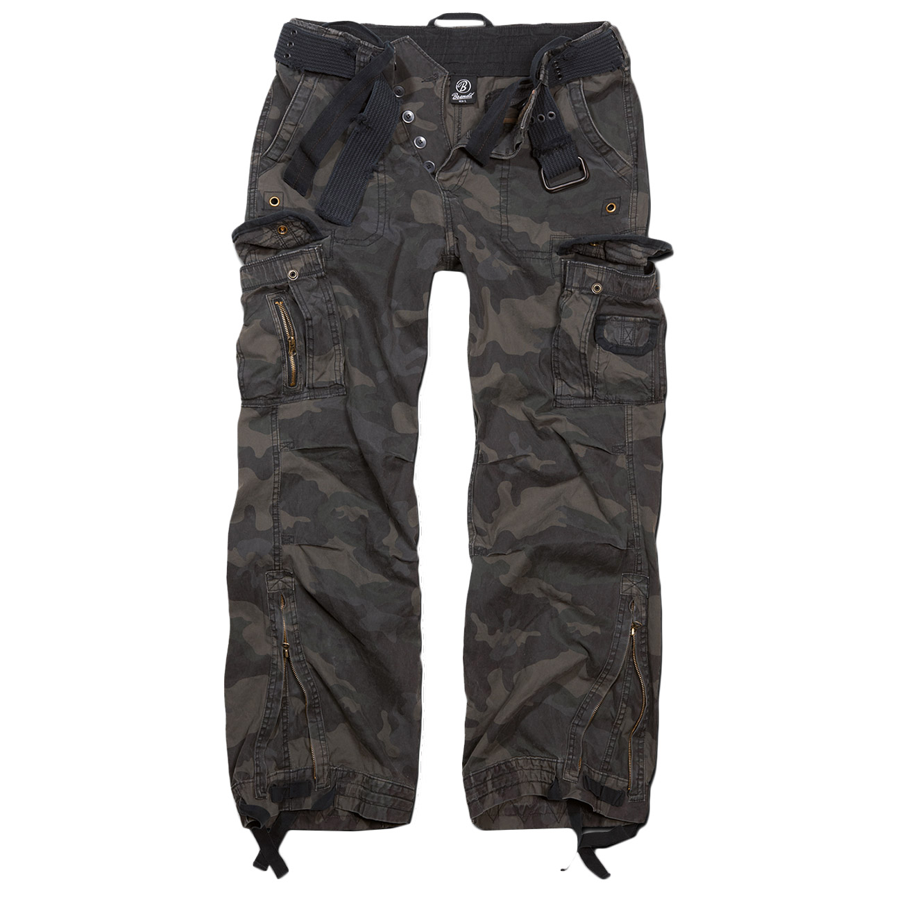Brandit Cargohose Royal Vintage Trousers darkcamo 0