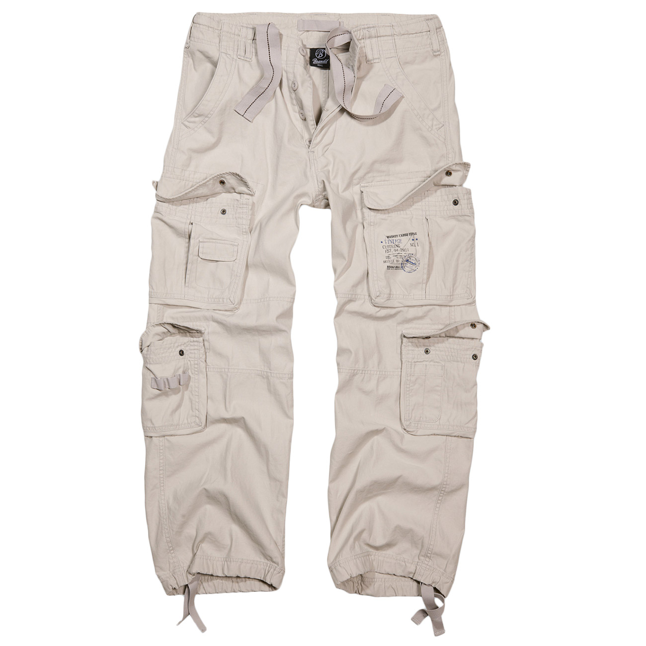 Brandit Cargohose Pure Vintage Trousers old white 0
