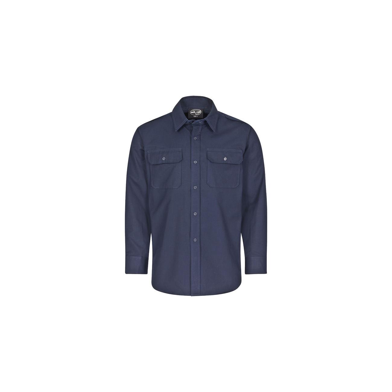 Mil-Tec Feldhemd Ripstop dunkelblau