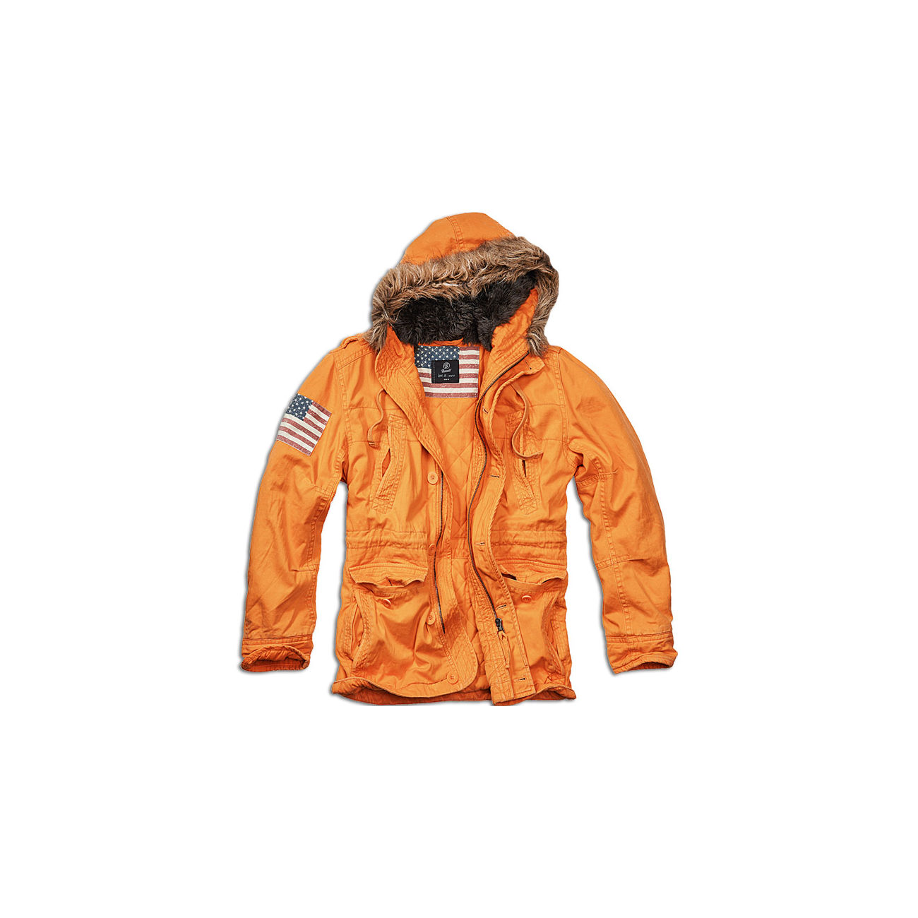 Brandit Jacke Vintage Explorer Stars & Stripes orange 0