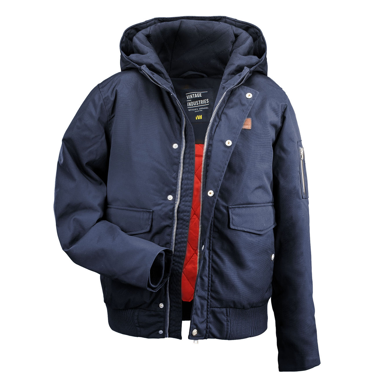 Vintage Industries Fliegerjacke Rice navy 1