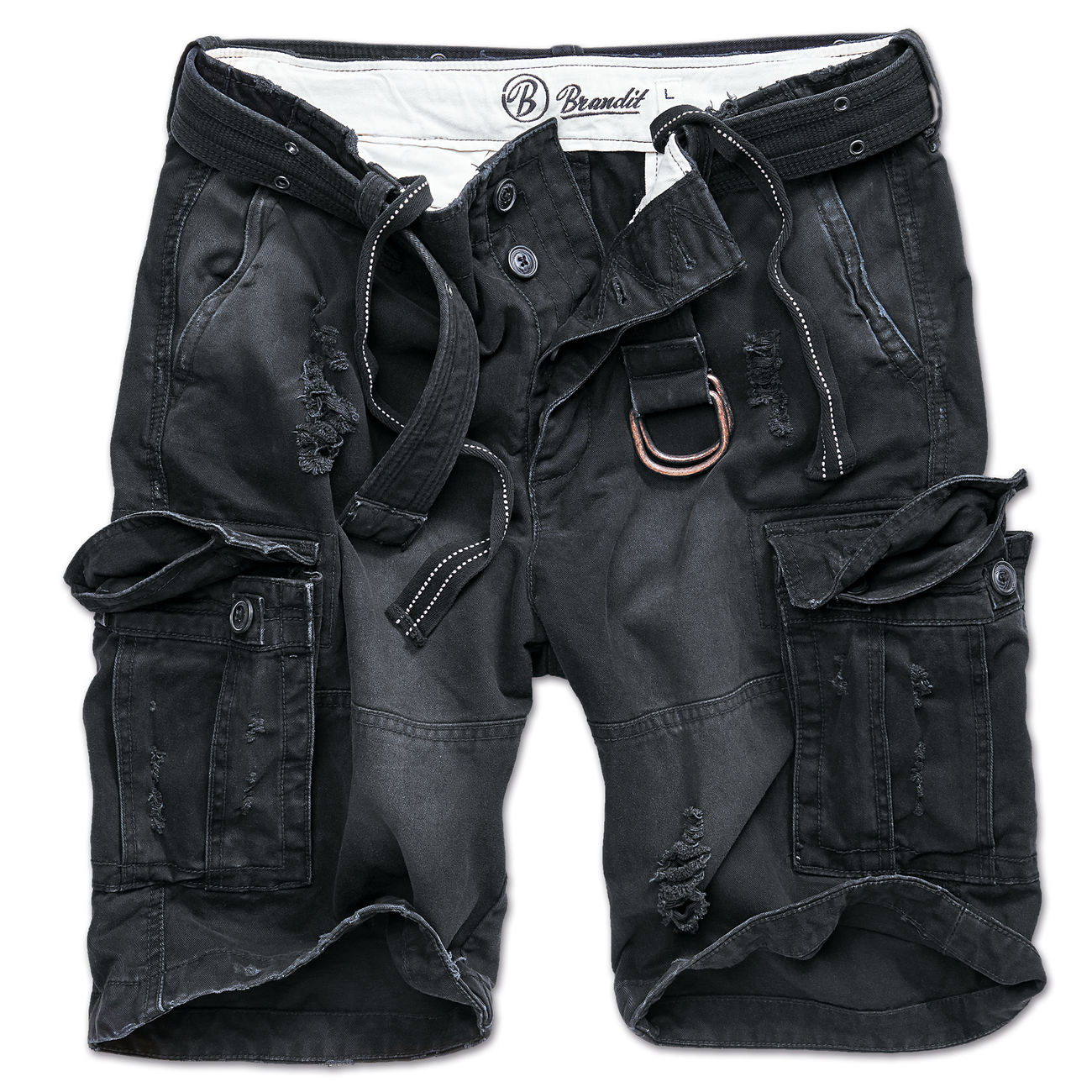 Brandit Shorts Shell Valley heavy schwarz 0