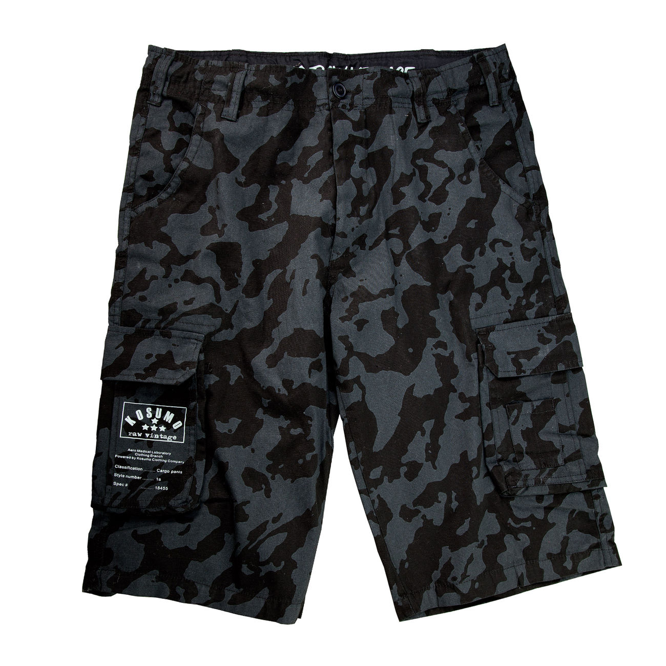 Kosumo Shorts stone washed night camo 0