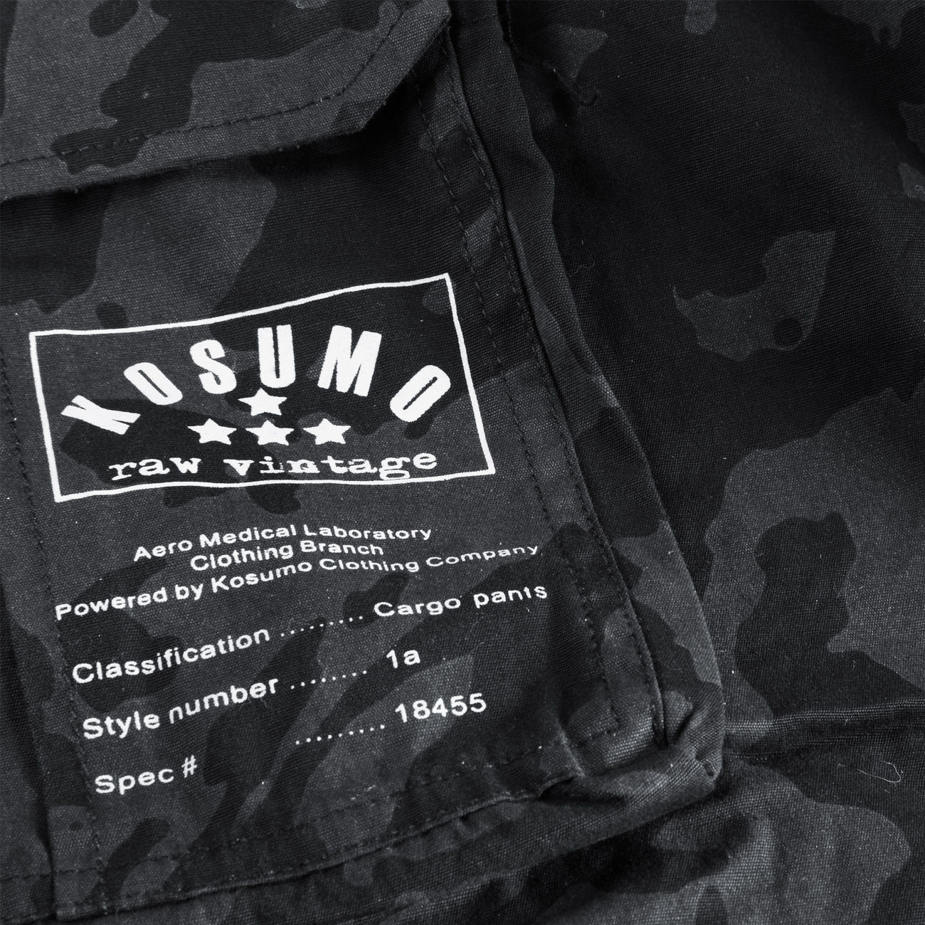 Kosumo Shorts stone washed night camo 1