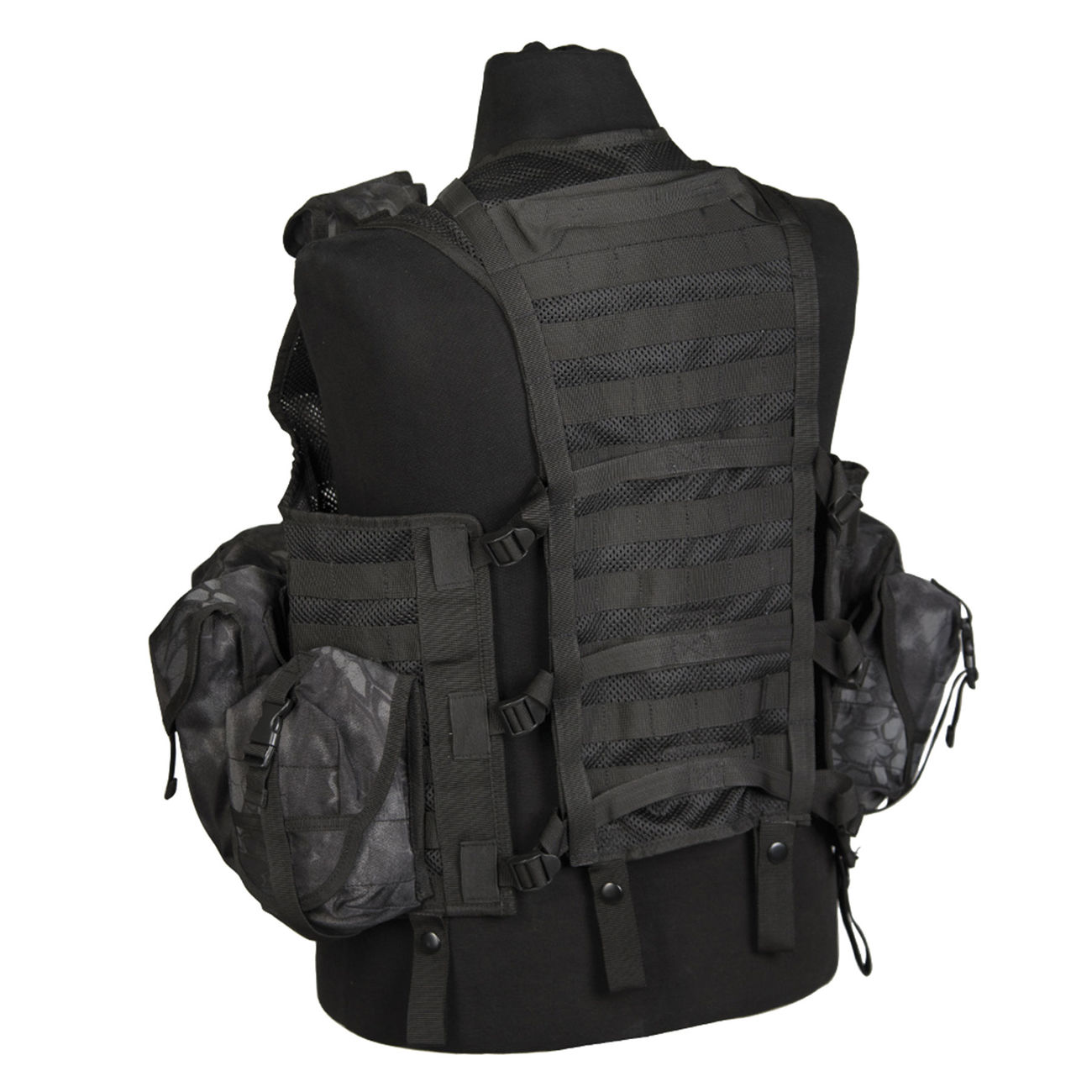 Mil-Tec Weste Tactical Modular System Mandra Night 1