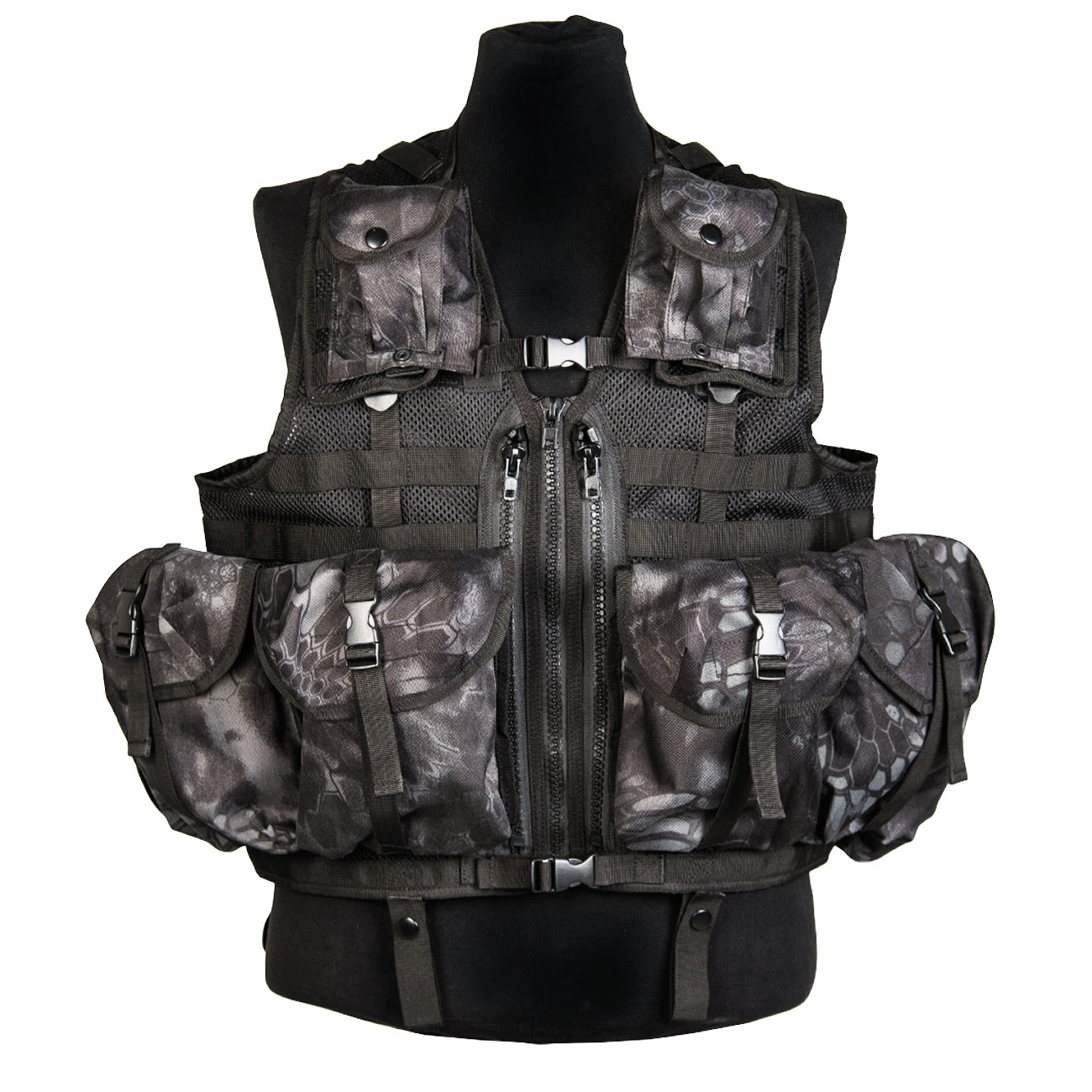 Mil-Tec Weste Tactical Modular System Mandra Night 0