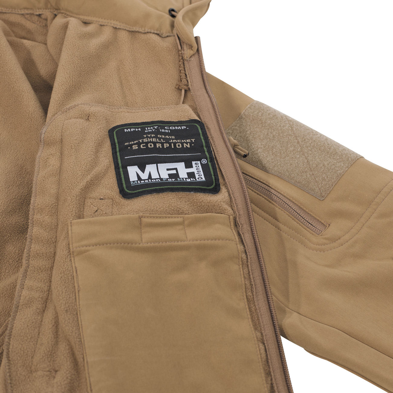 MFH Softshell Jacke Scorpion coyote 4