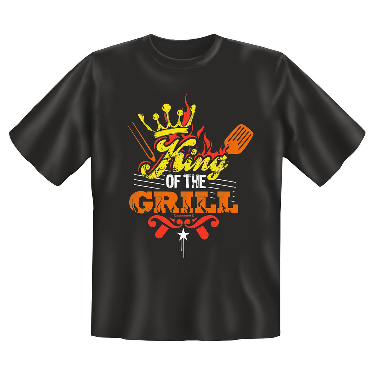 Rahmenlos T-Shirt King of the Grill 0