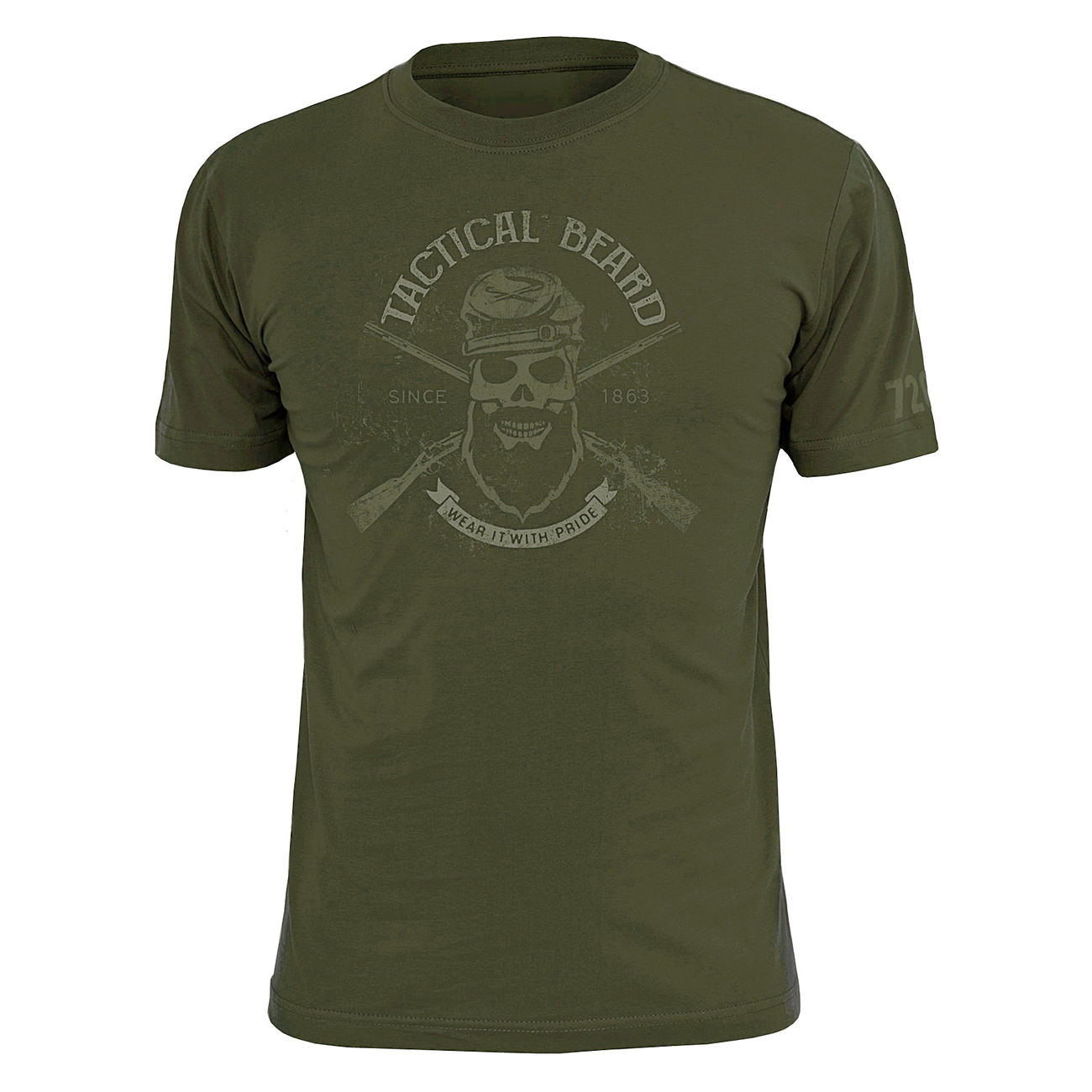 720gear T-Shirt Tactical Beard 0