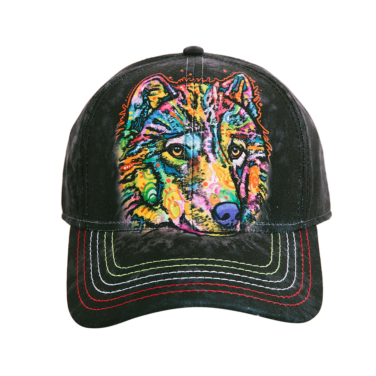 The Mountain Baseball Cap Happy Wolf 0