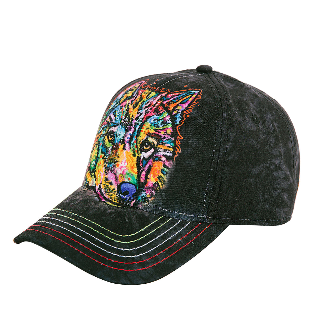 The Mountain Baseball Cap Happy Wolf 1