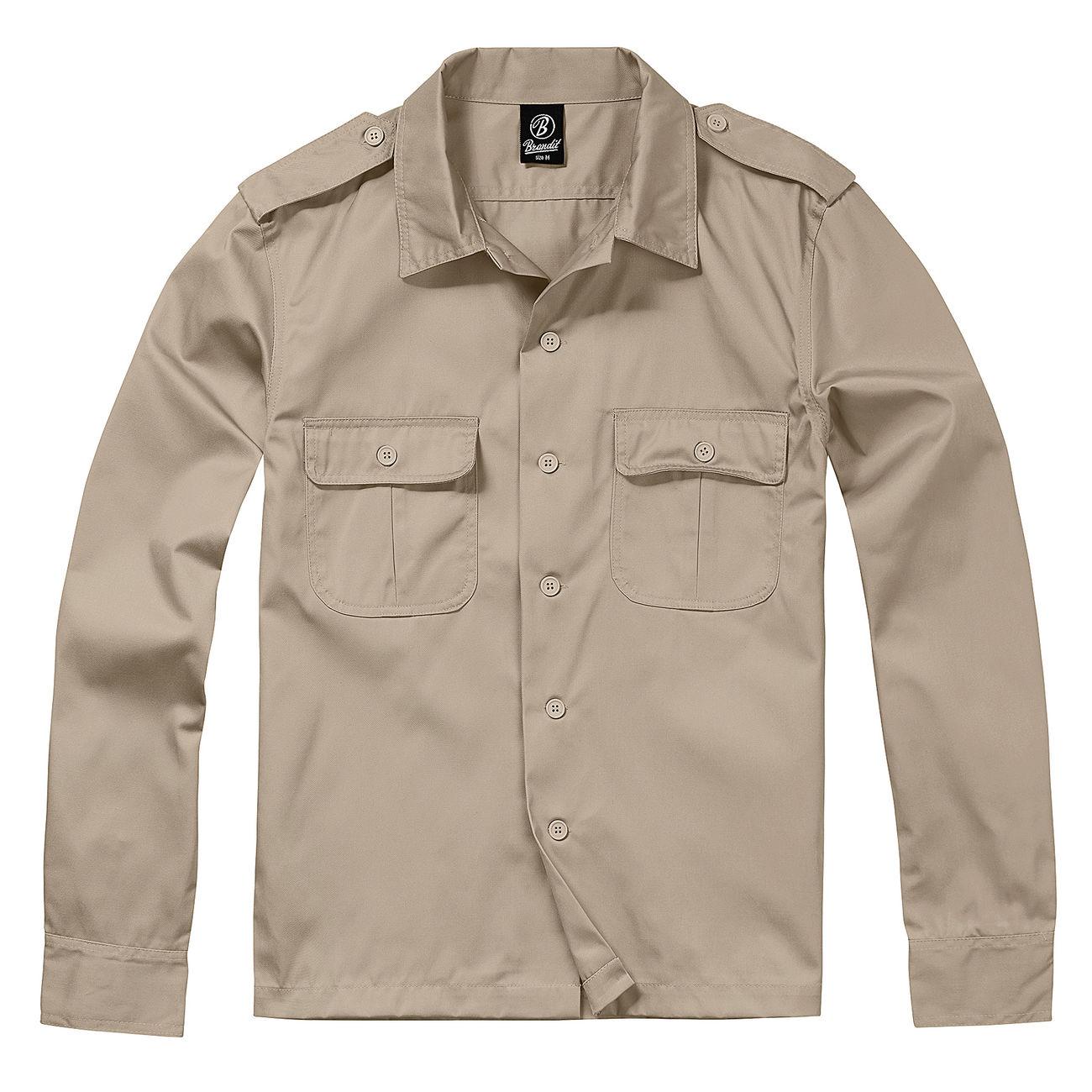 Brandit US Hemd langarm beige