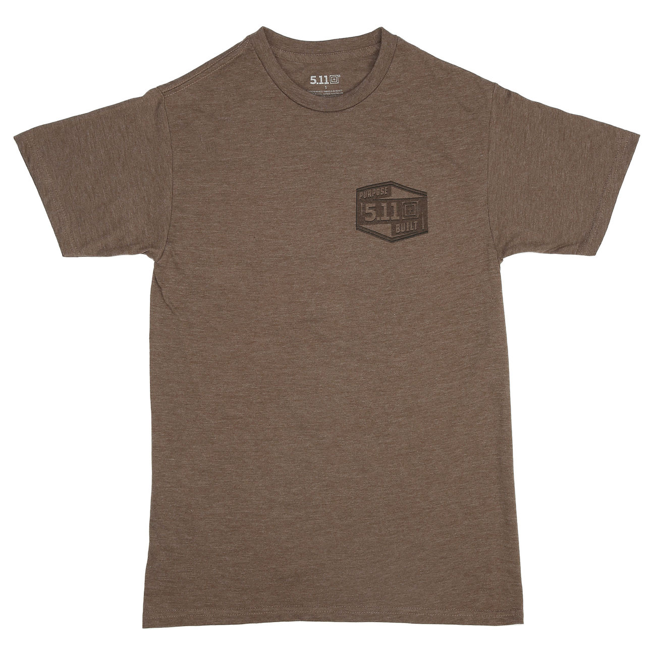 5.11 T-Shirt Purpose Built Tee brown heather 0