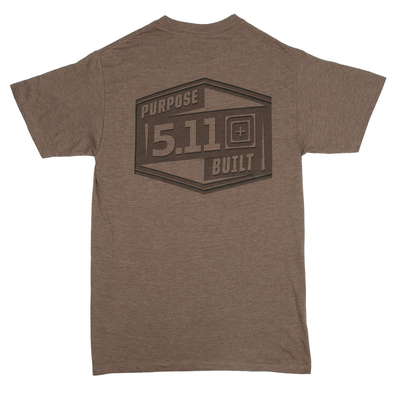 5.11 T-Shirt Purpose Built Tee brown heather 1